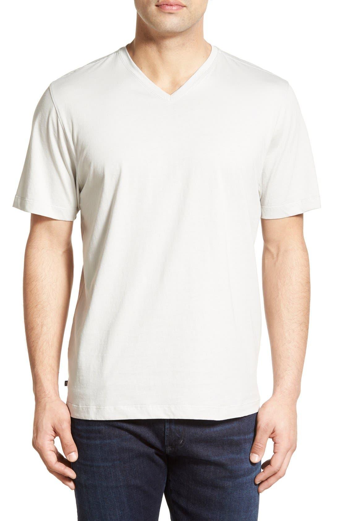 Sida V-Neck T-Shirt,                         Main,                         color, Graphite