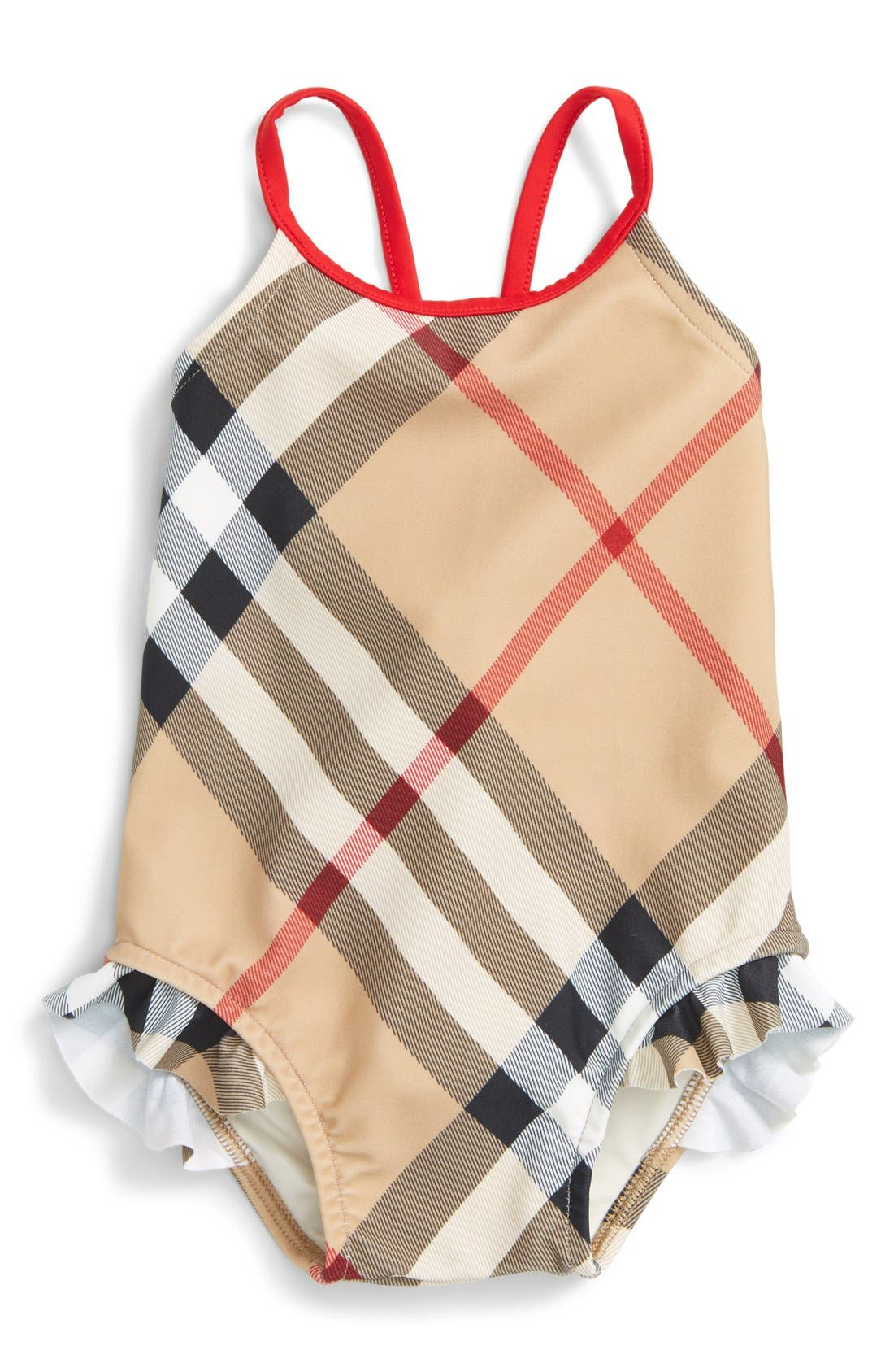 Alternate Image 1 Selected - Burberry 'Lundy' One-Piece Swimsuit (Baby Girls)