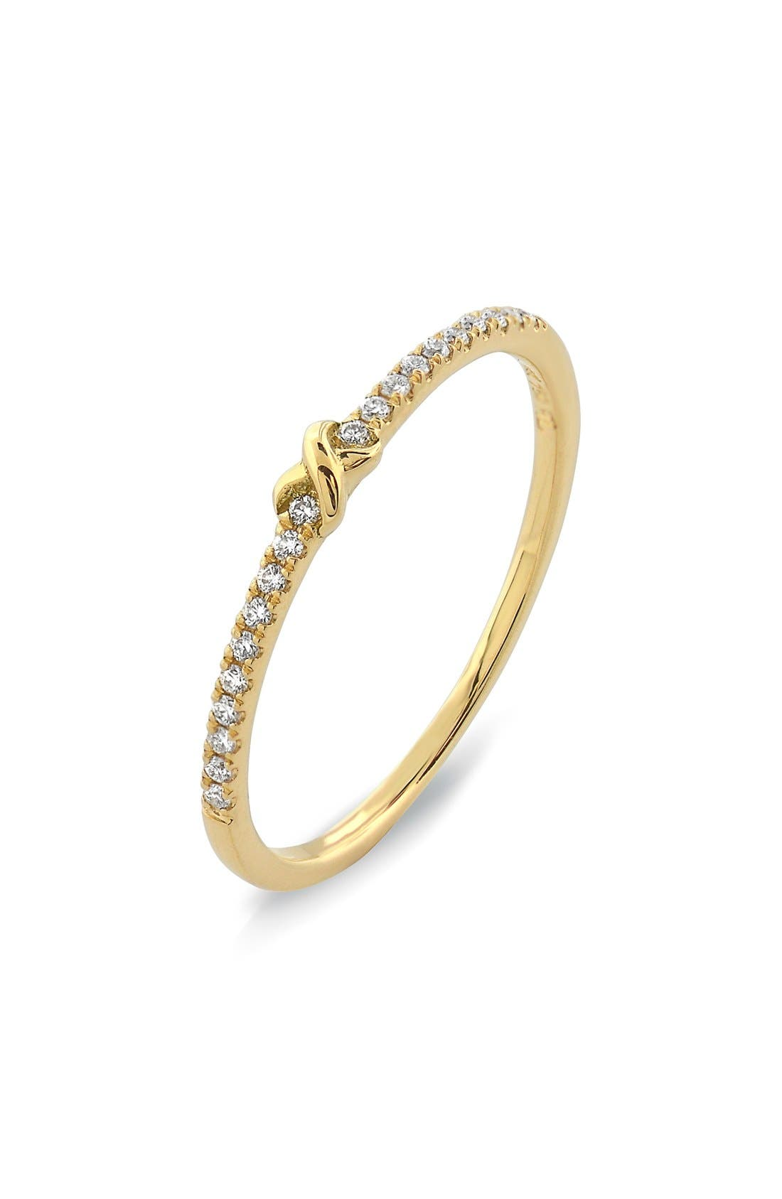 BONY LEVY Stackable Knot Pavé Diamond Ring