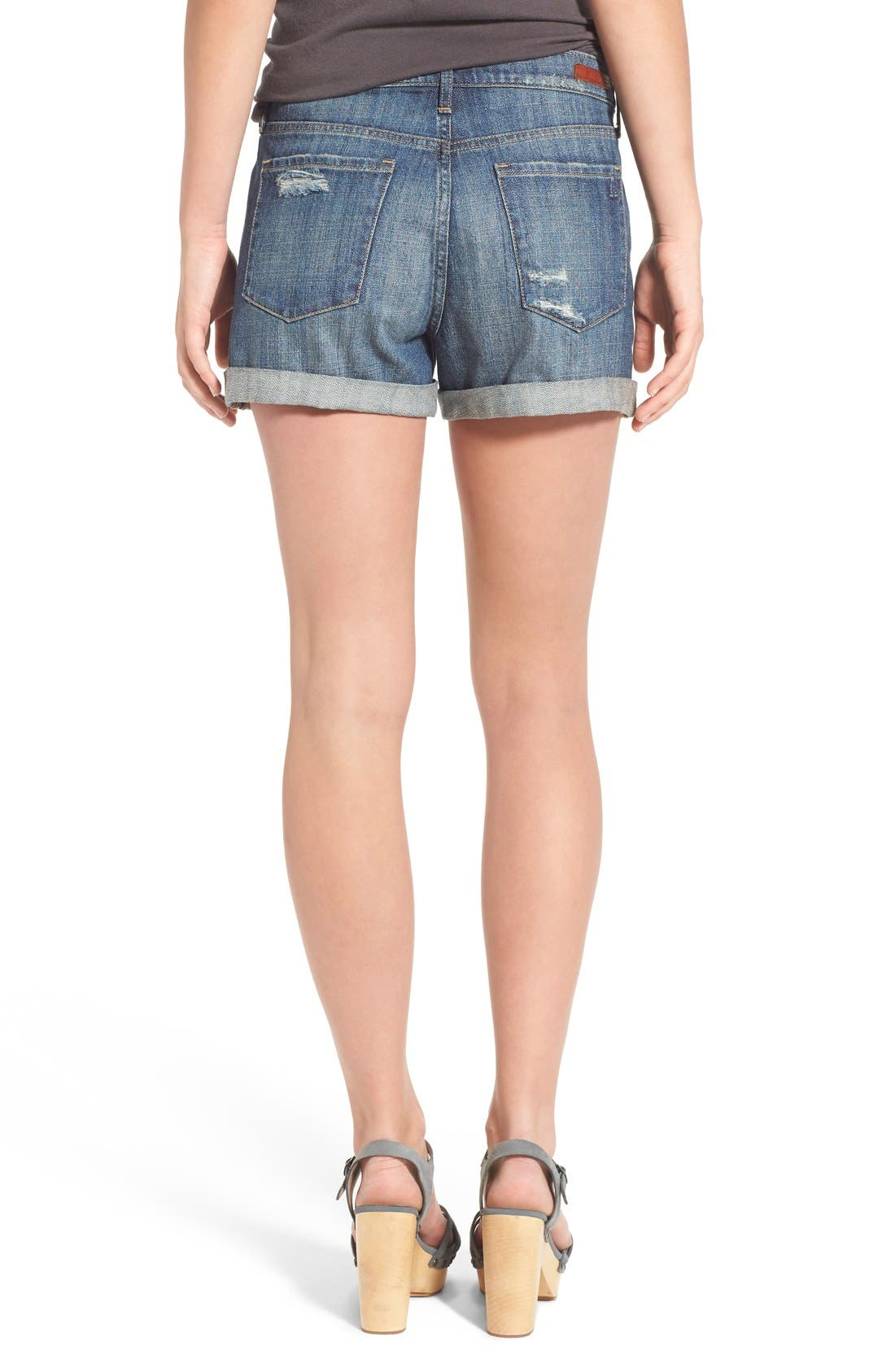 Alternate Image 2  - Articles of Society 'Jimmy' Distressed Denim Shorts (Buffet)