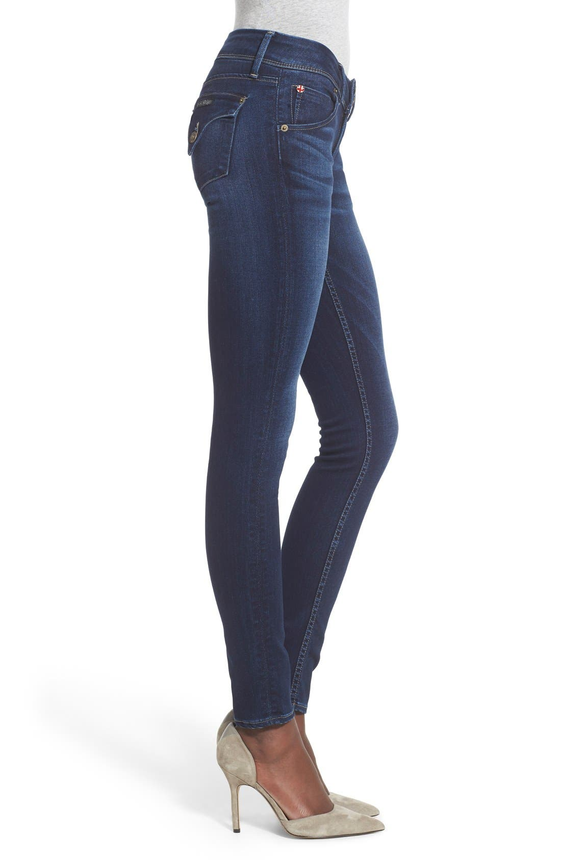 'Elysian - Collin' Mid Rise Skinny Jeans,                             Alternate thumbnail 3, color,                             Crest Falls
