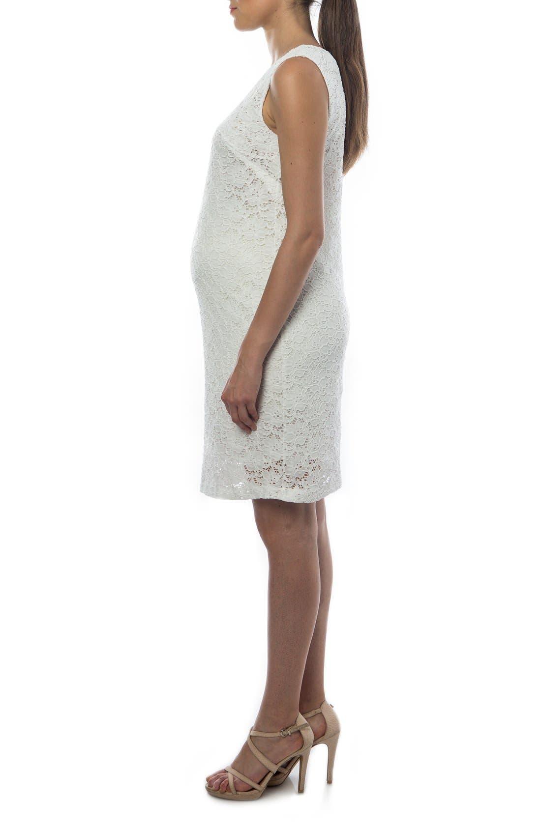 Alternate Image 3  - PIETRO BRUNELLI 'Danubio' Lace Maternity Shift Dress