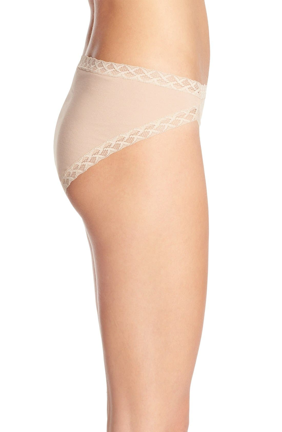 Bliss French Cut Briefs,                             Alternate thumbnail 3, color,                             Cafe