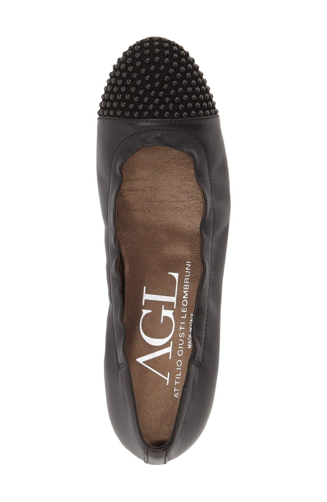 Alternate Image 3  - AGL 'Blakely' Studded Cap Toe Ballet Flat (Women)