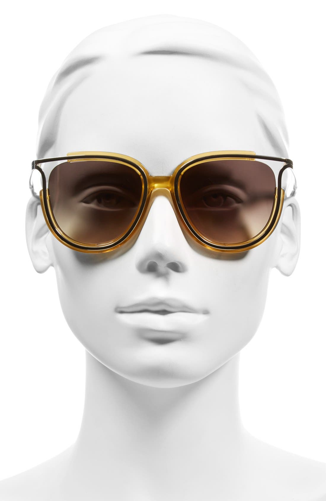 'Jayme' 54mm Retro Sunglasses,                             Alternate thumbnail 2, color,                             Yellow