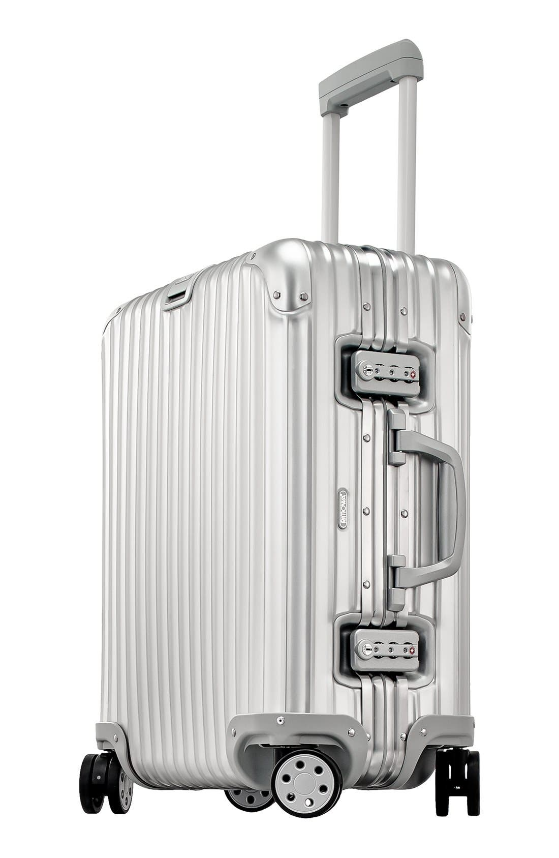 Alternate Image 3  - RIMOWA Topas 22 Inch Cabin Multiwheel® Aluminum Carry-On