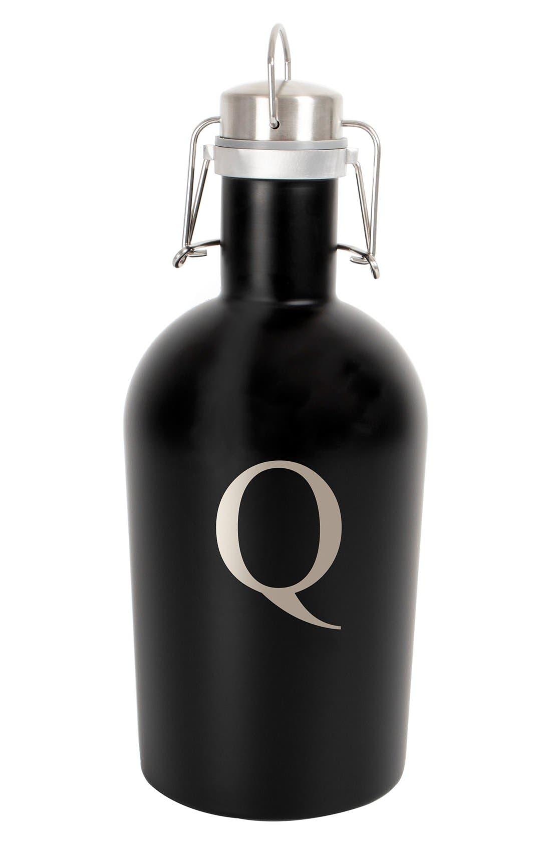 Monogram Stainless Steel Growler,                         Main,                         color, Black - Q
