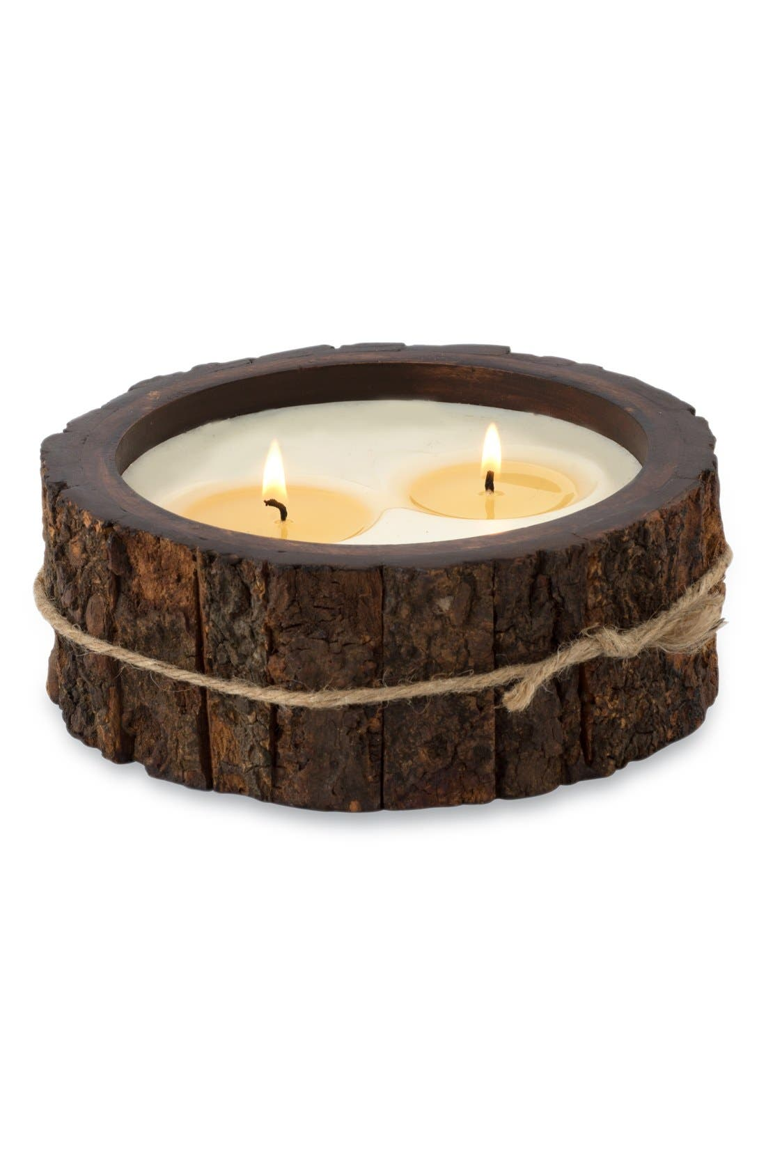 Alternate Image 1 Selected - Himalayan Trading Post Double Wick Tree Bark Candle