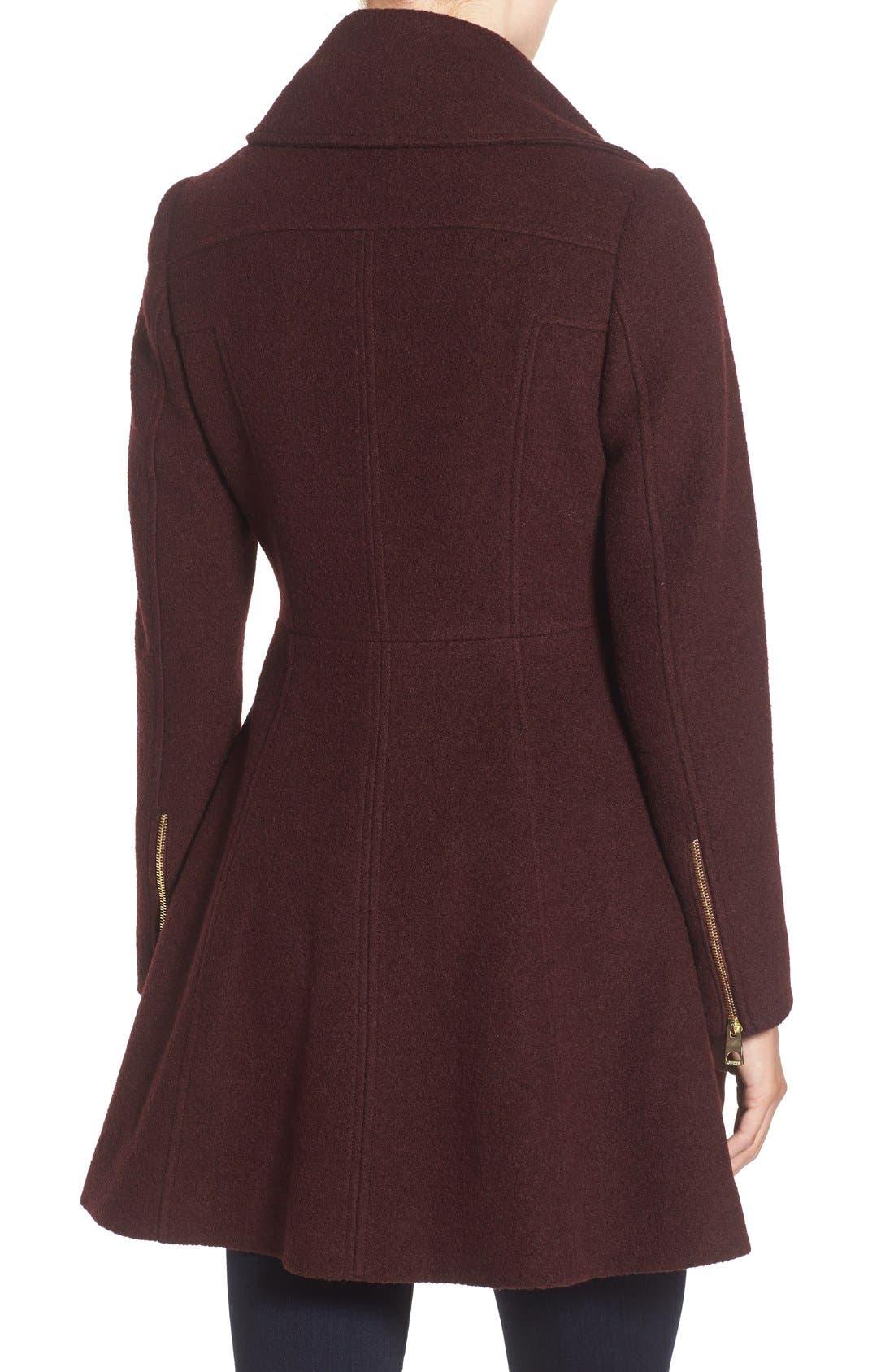 Alternate Image 2  - GUESS Envelope Collar Double Breasted Coat (Regular & Petite)