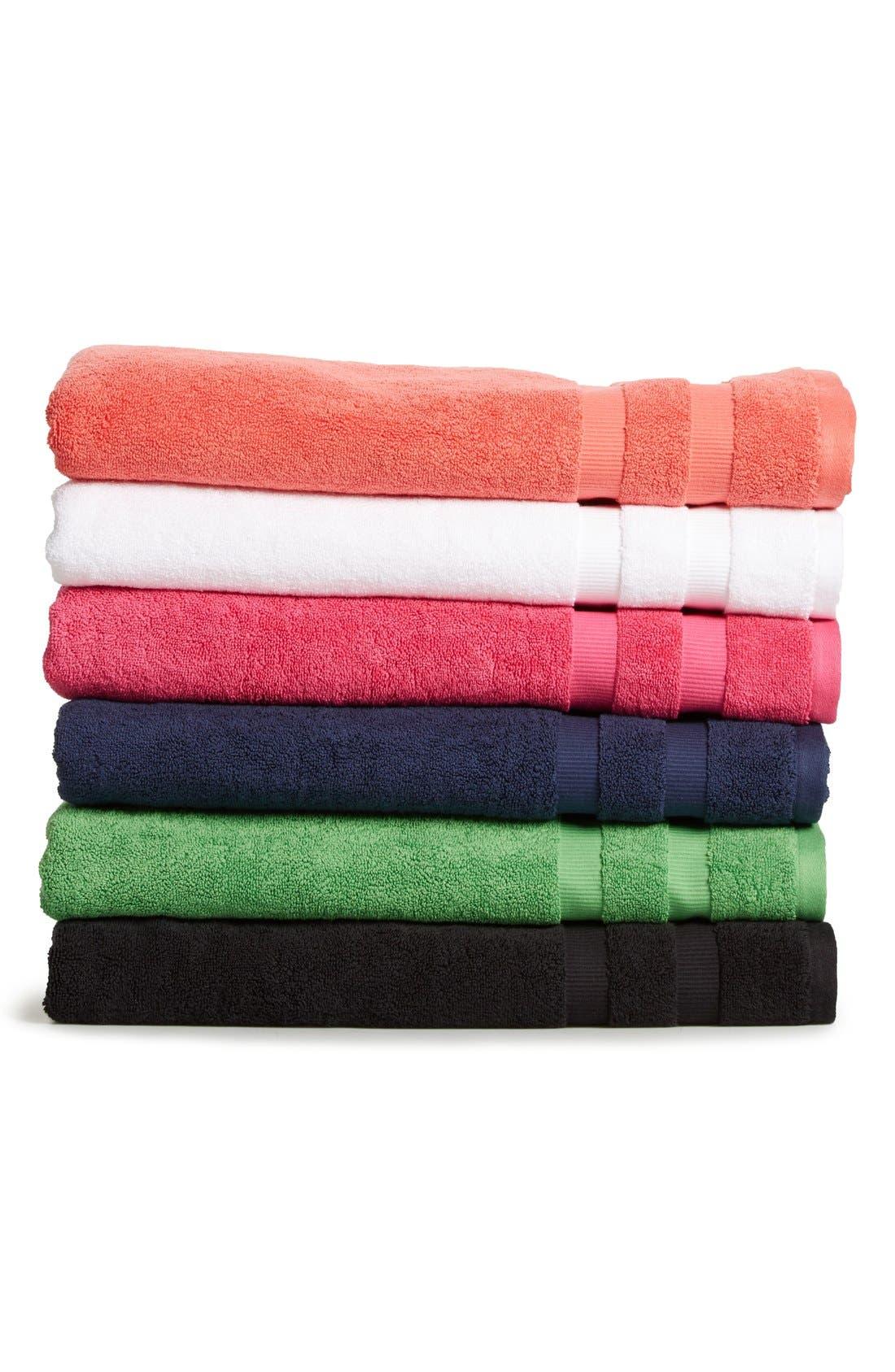 'chattam' stripe bath sheet,                             Alternate thumbnail 2, color,