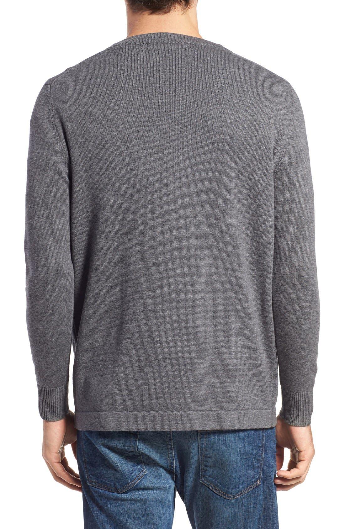 'San Francisco' Crewneck Sweater,                             Alternate thumbnail 2, color,                             Ash
