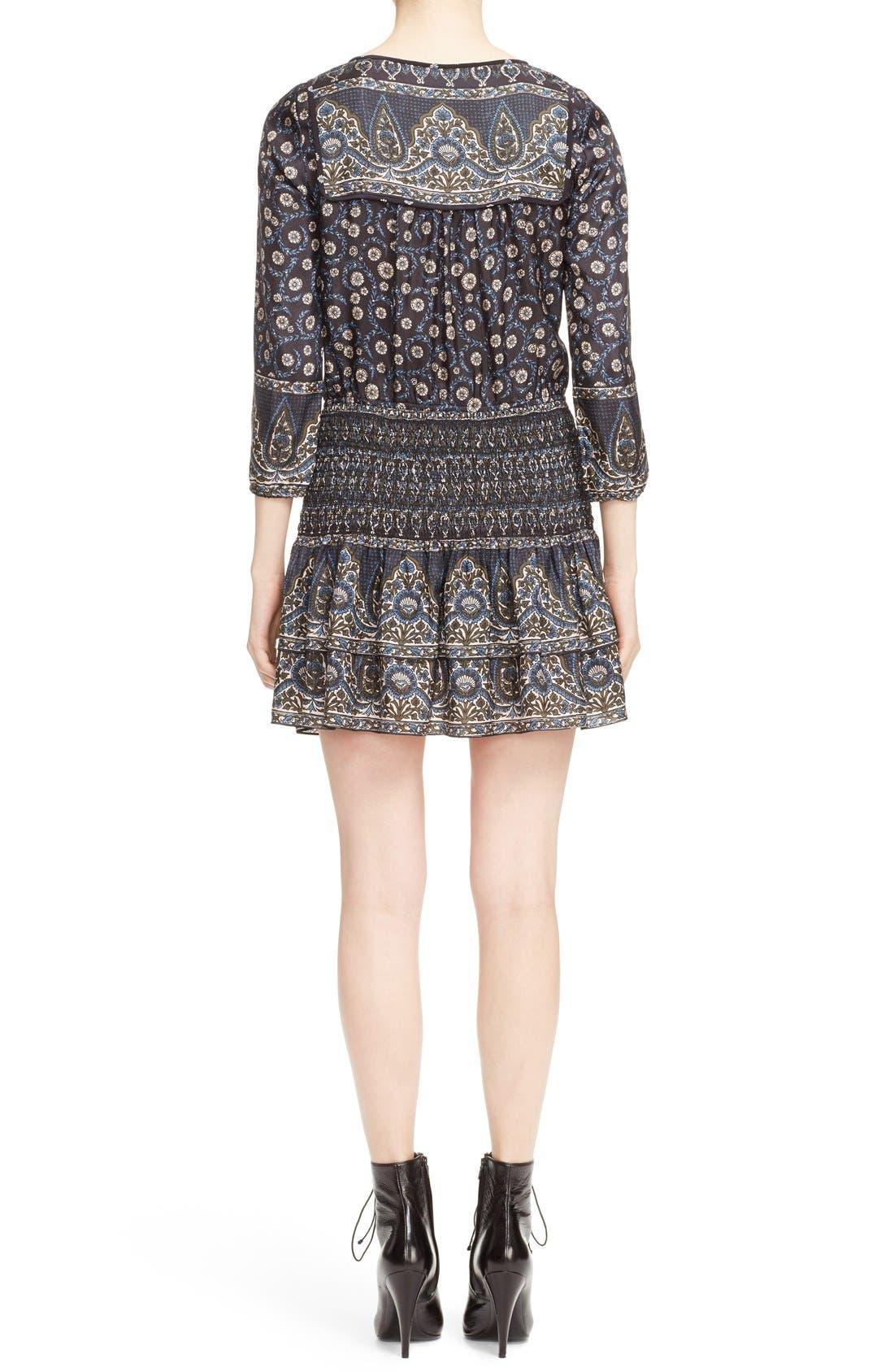 Alternate Image 2  - Veronica Beard 'Makai' Floral Print Silk Ruffle Hem Dress