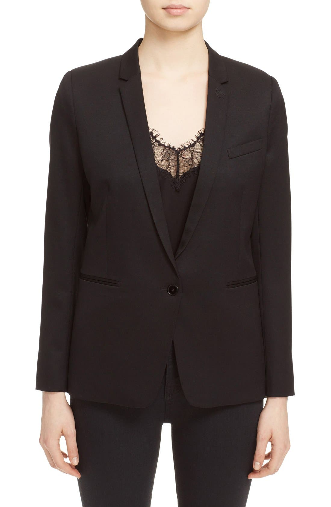 'Timeless' Stretch Wool Jacket,                         Main,                         color, Black