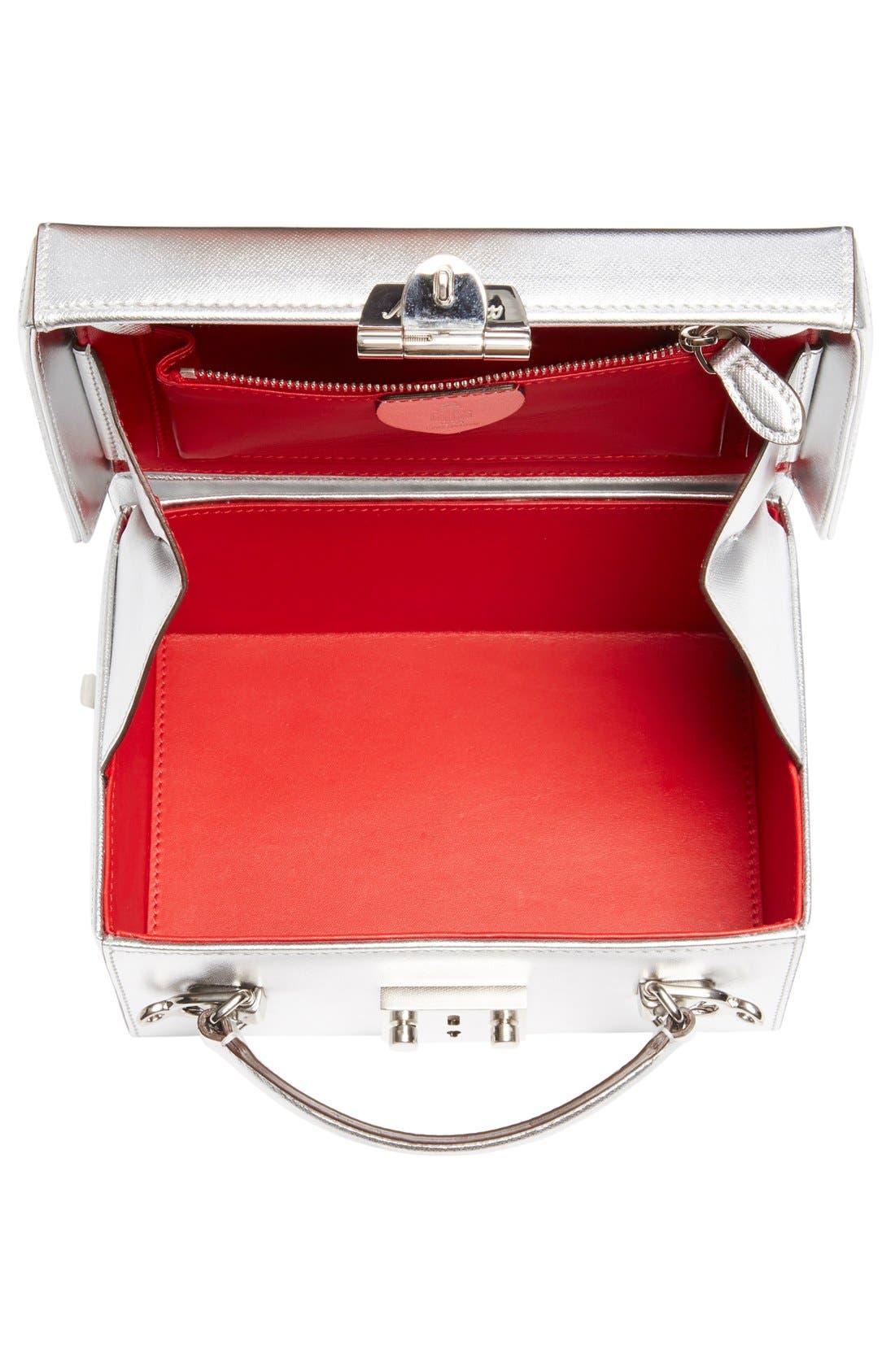 Alternate Image 3  - Mark Cross 'Small Grace' Metallic Saffiano Leather Box Clutch