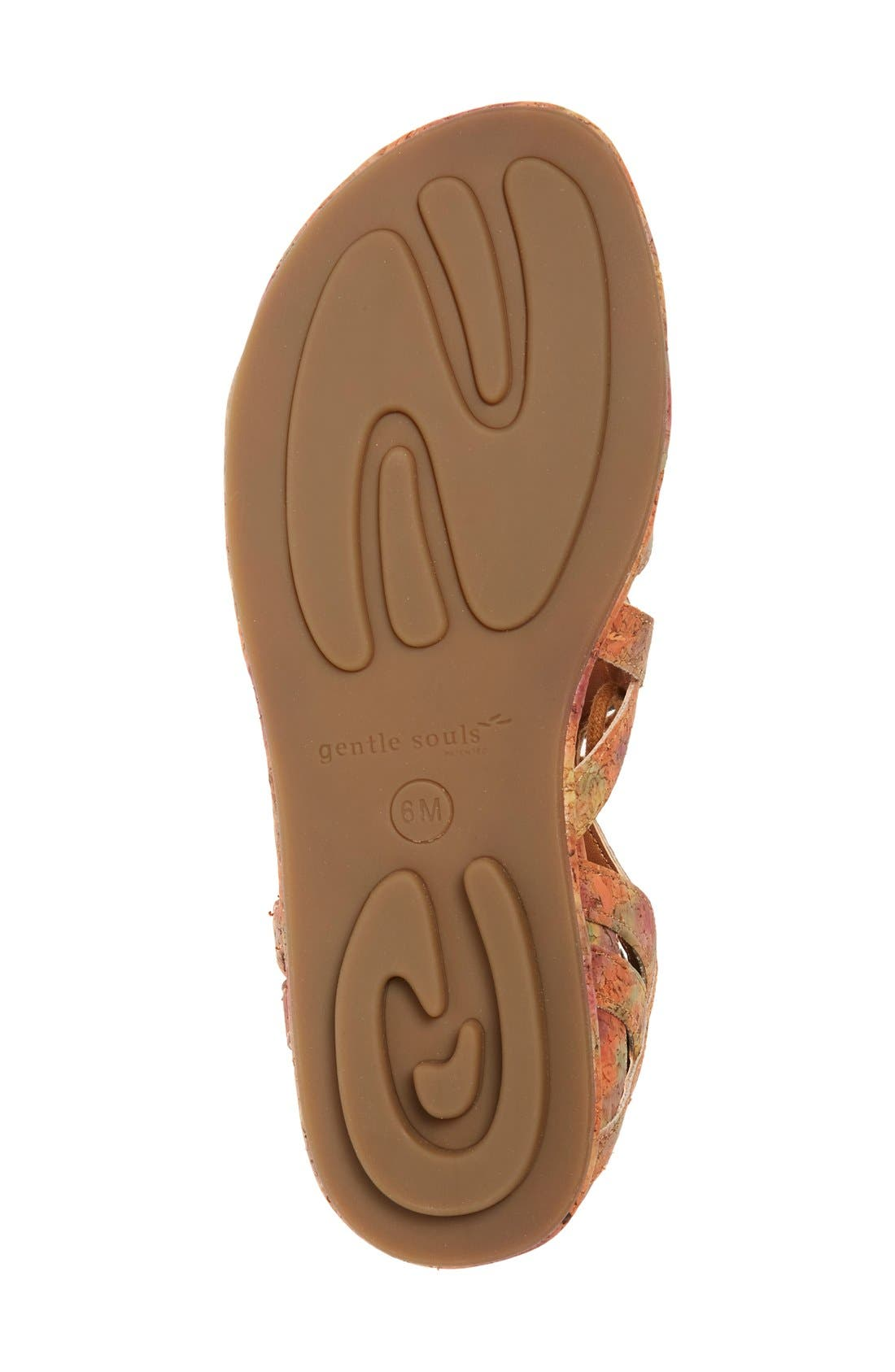 'Orly' Lace-Up Sandal,                             Alternate thumbnail 7, color,                             Natural/ Floral Cork