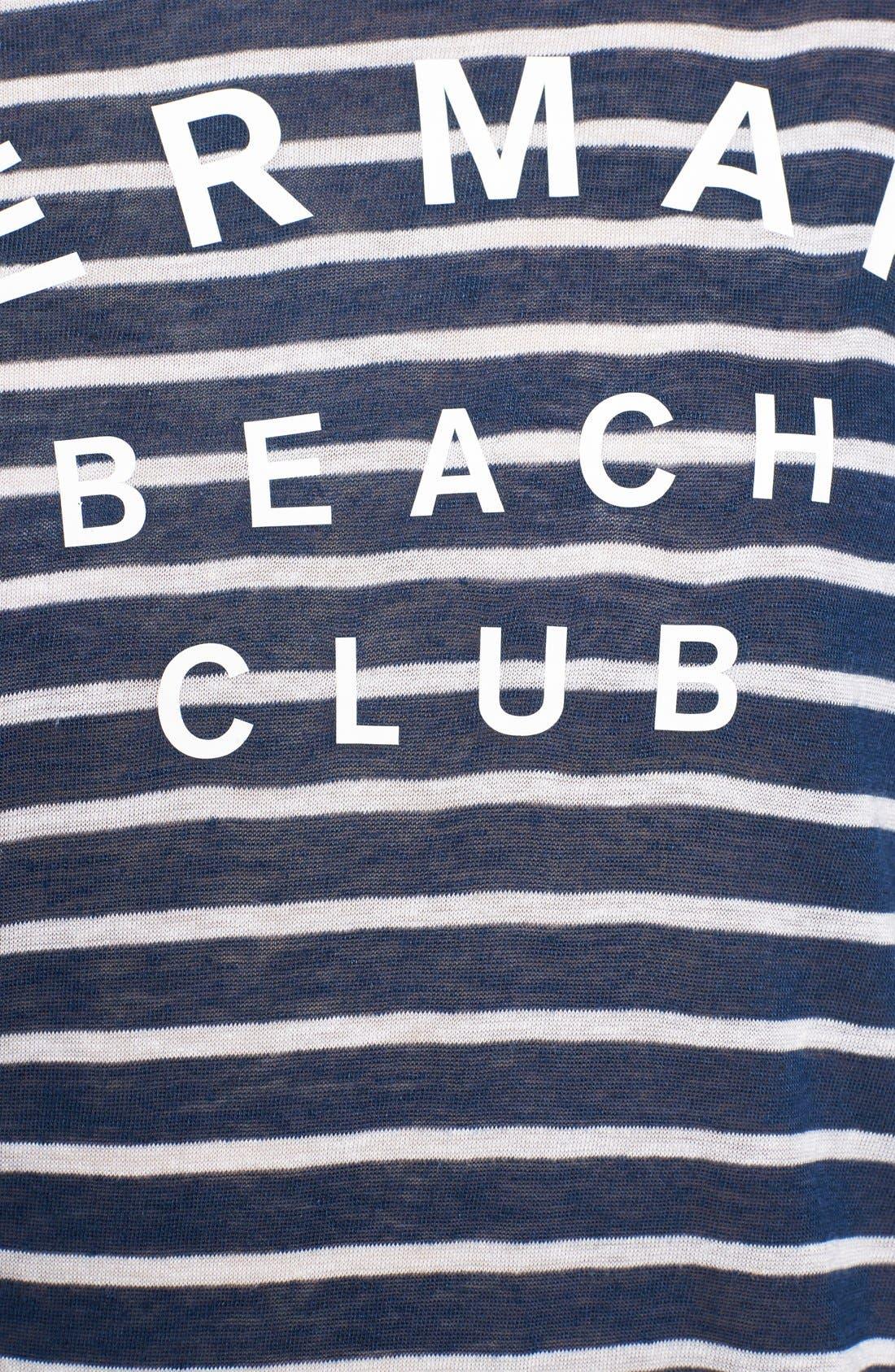 Alternate Image 5  - Sundry 'Mermaid Club' Stripe Tee
