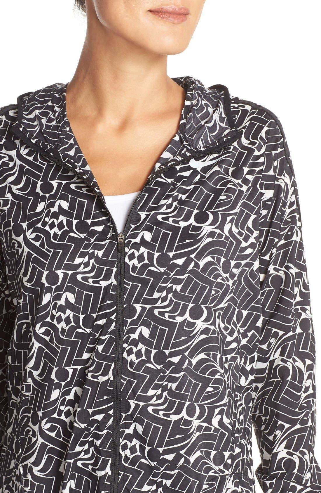 Alternate Image 4  - Nike Shield Hooded Windbreaker Jacket