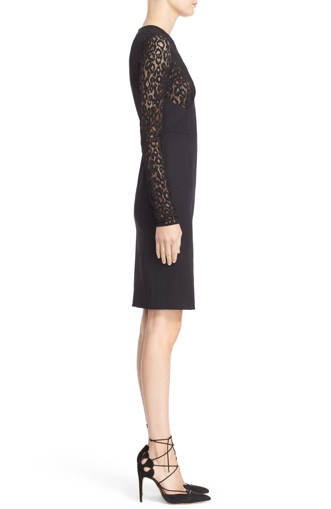Alternate Image 4  - Roberto Cavalli Lace & Jersey Sheath Dress