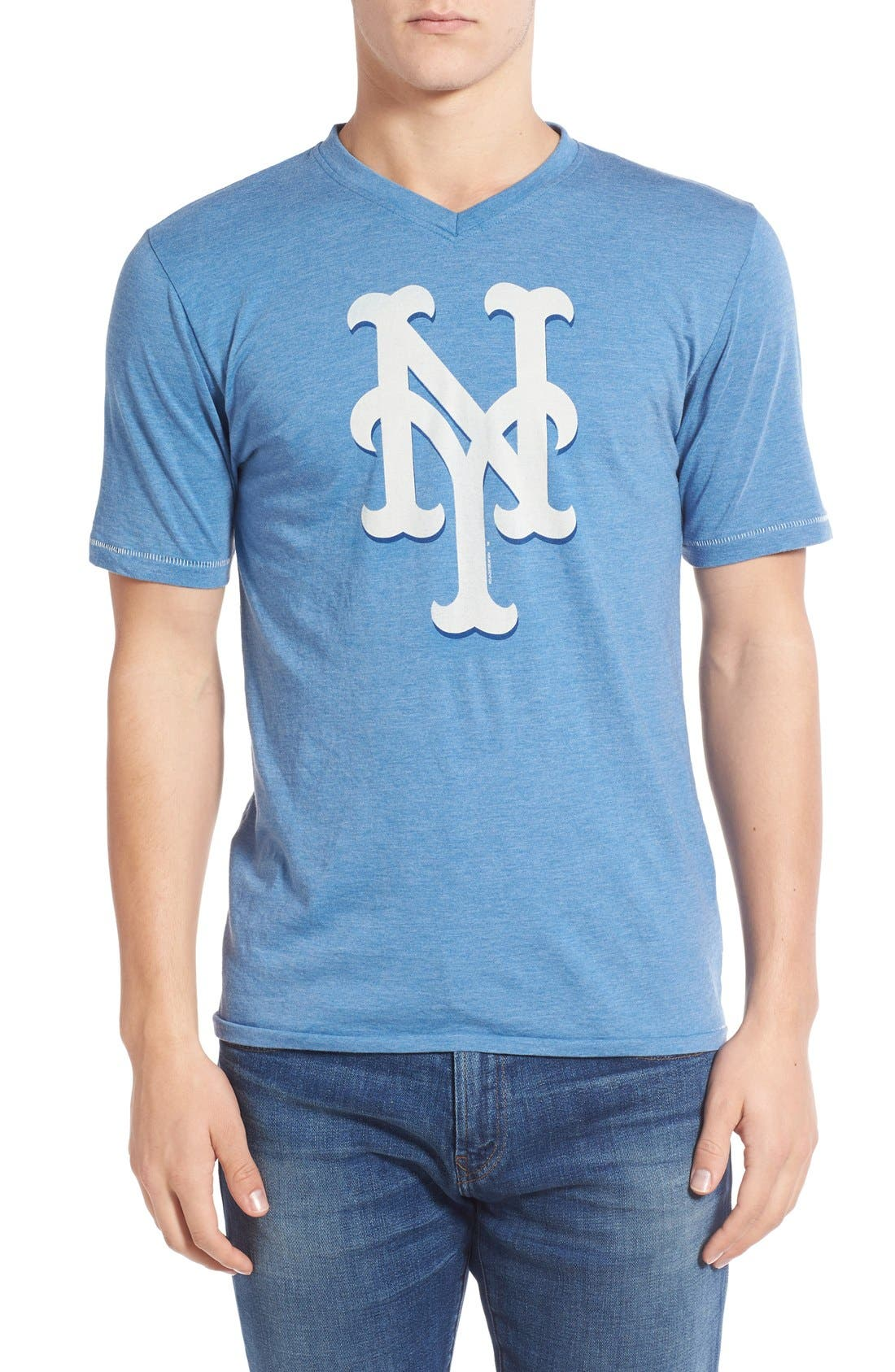 'New York Mets - Calumet' Graphic V-Neck T-Shirt,                         Main,                         color, Royal
