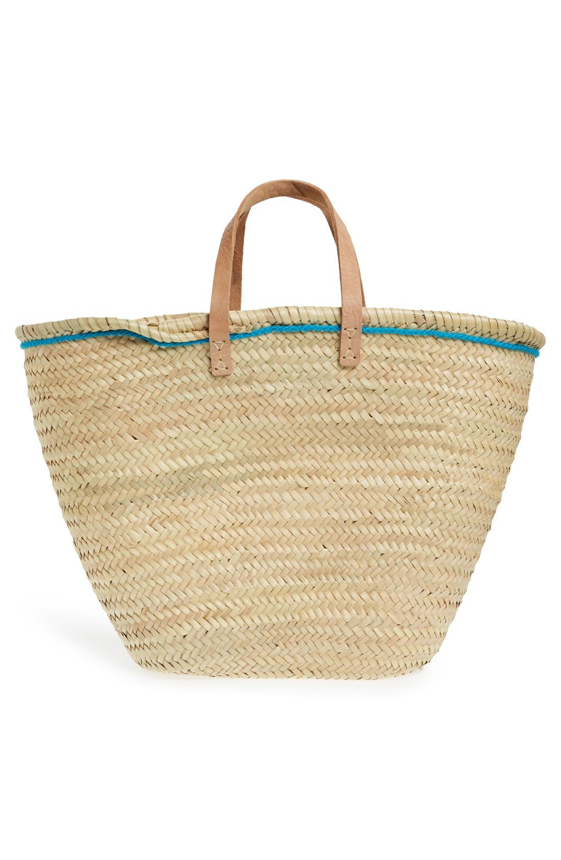 Alternate Image 3  - House of Perna 'Remy' Woven Straw Tote