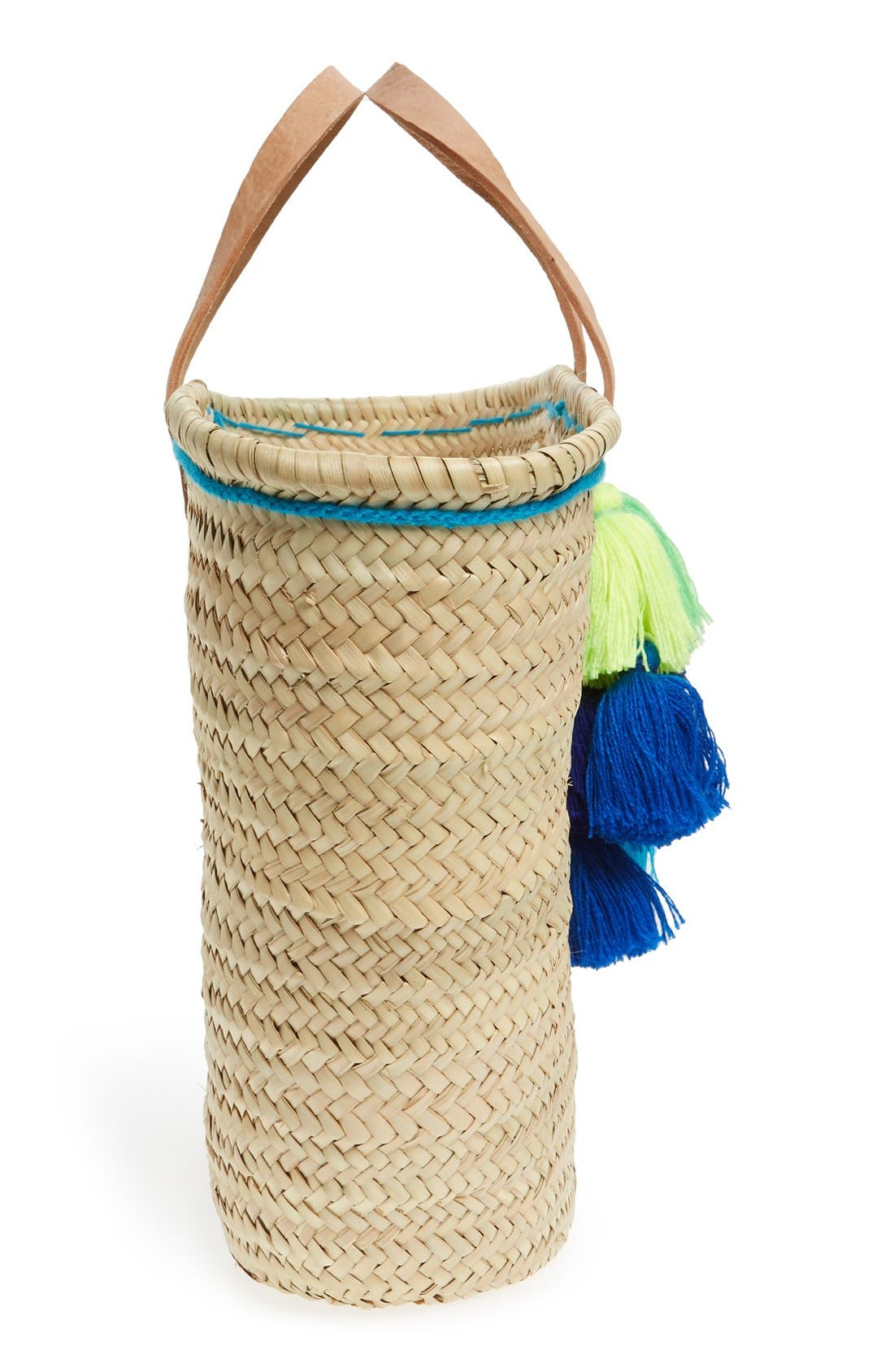 Alternate Image 5  - House of Perna 'Remy' Woven Straw Tote