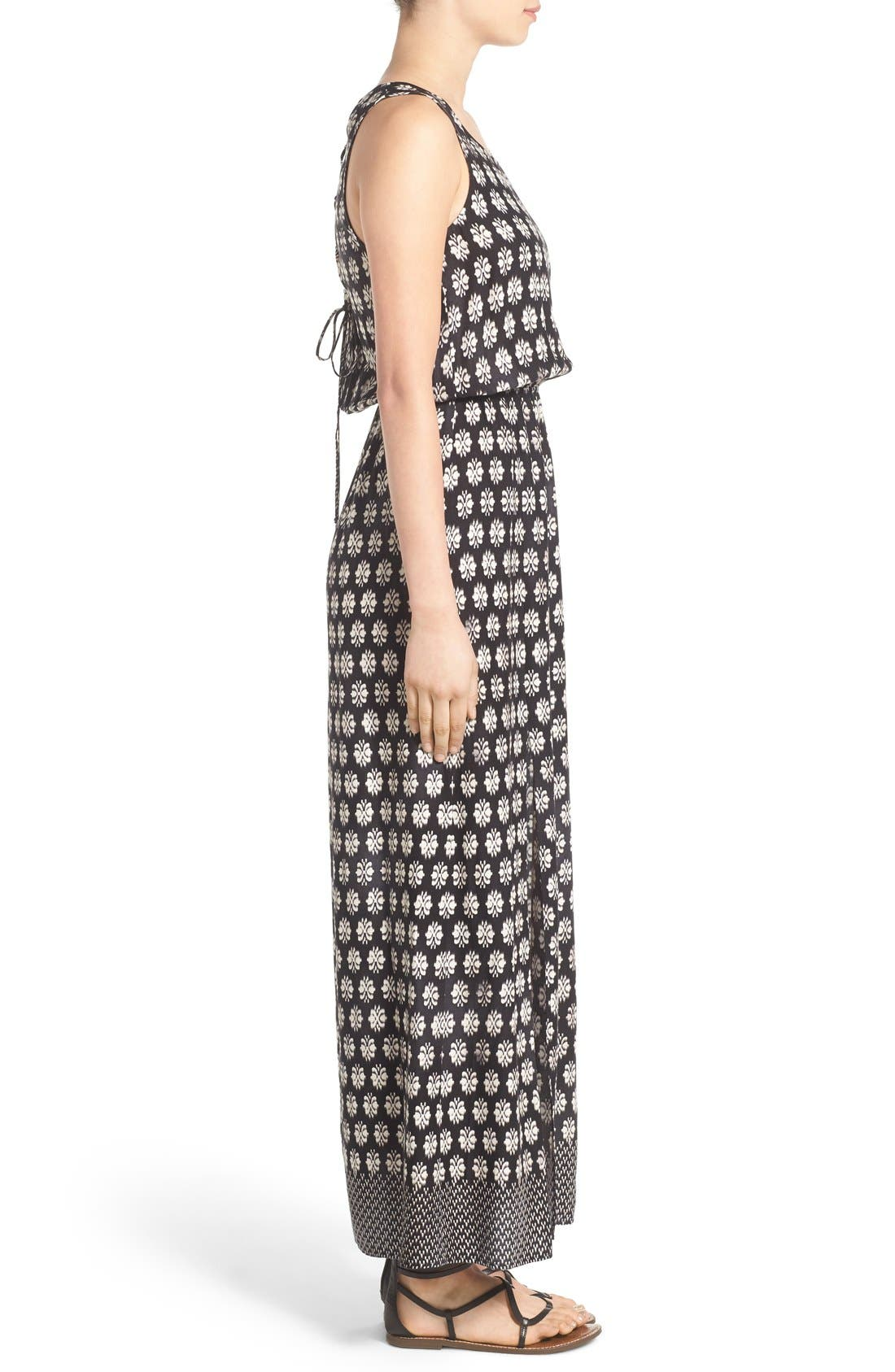 Alternate Image 3  - Mimi Chica Print Lace Up Maxi Dress