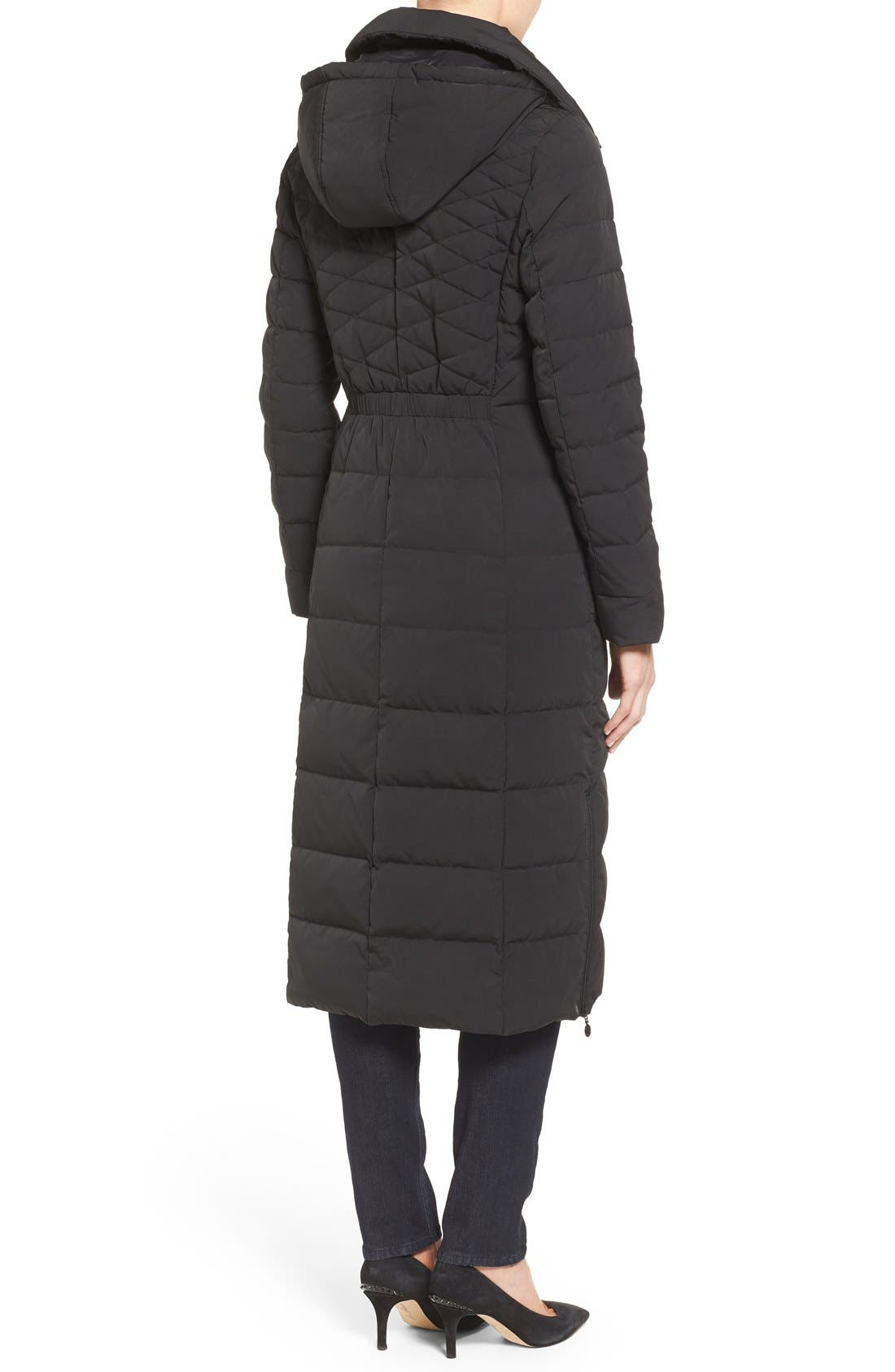 Alternate Image 2  - Bernardo Quilted Long Coat with Down & PrimaLoft® Fill