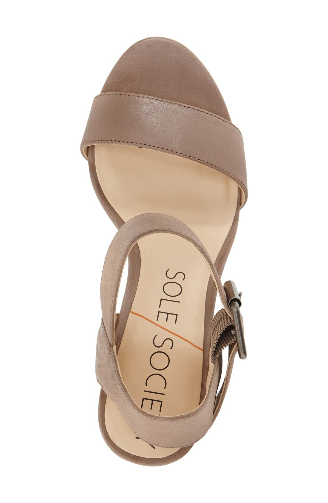 'Missy' Sandal,                             Alternate thumbnail 3, color,                             Taupe Wax Leather