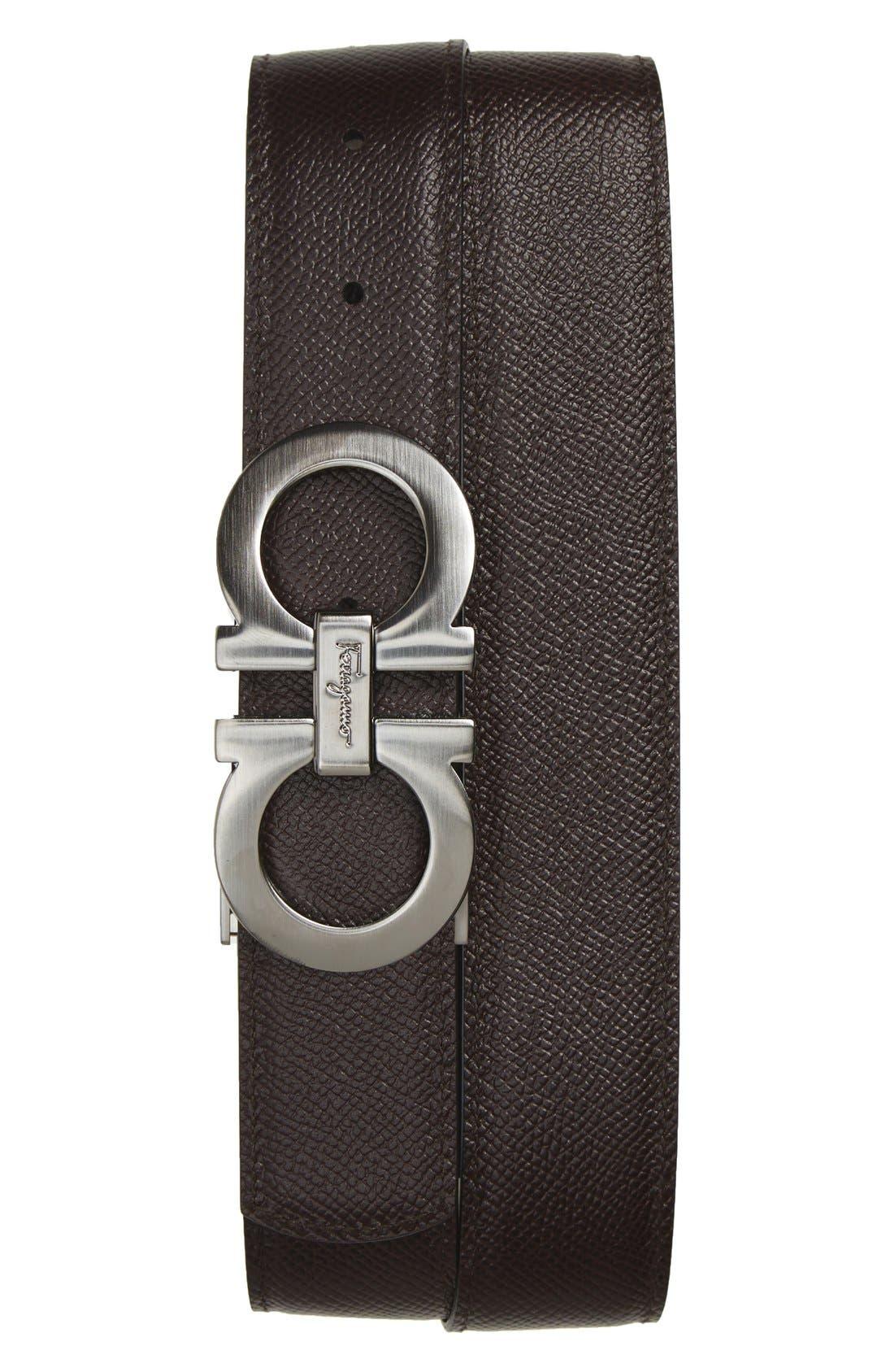Alternate Image 2  - Salvatore Ferragamo Reversible Double Gancini Calfskin Leather Belt
