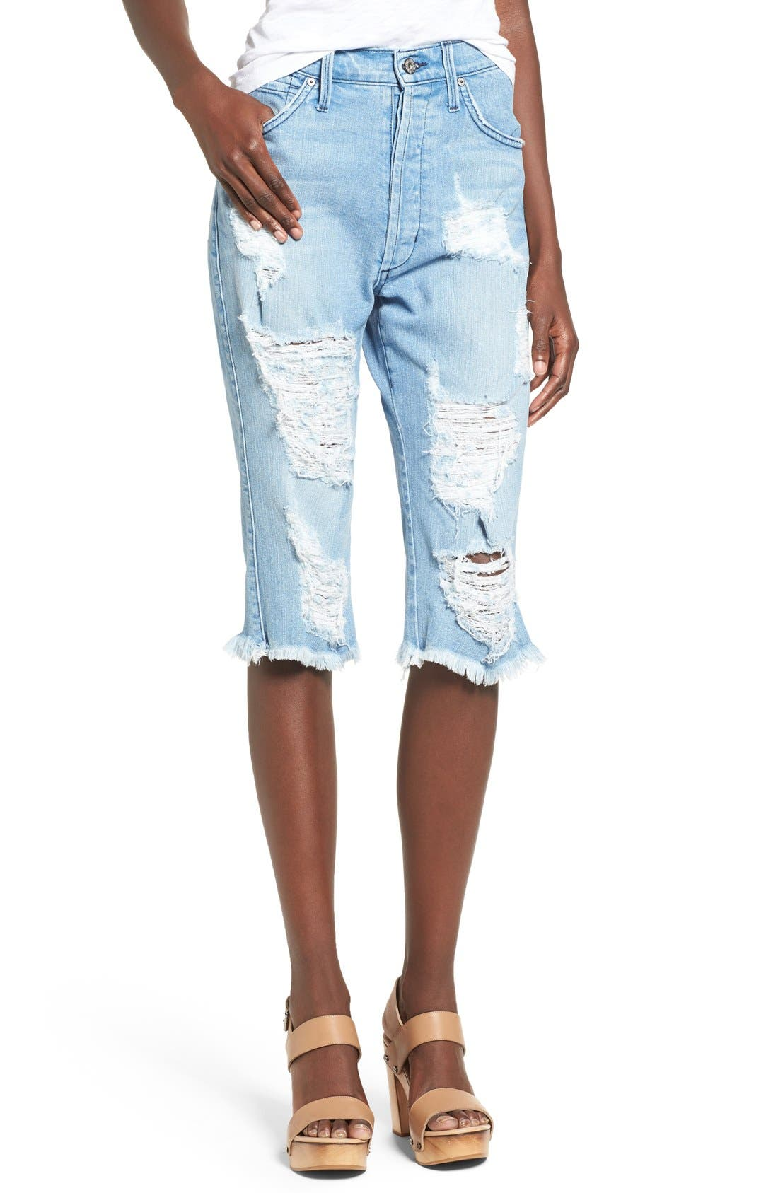 Alternate Image 1 Selected - James Jeans Distressed Bermuda Shorts (Joy Ride)