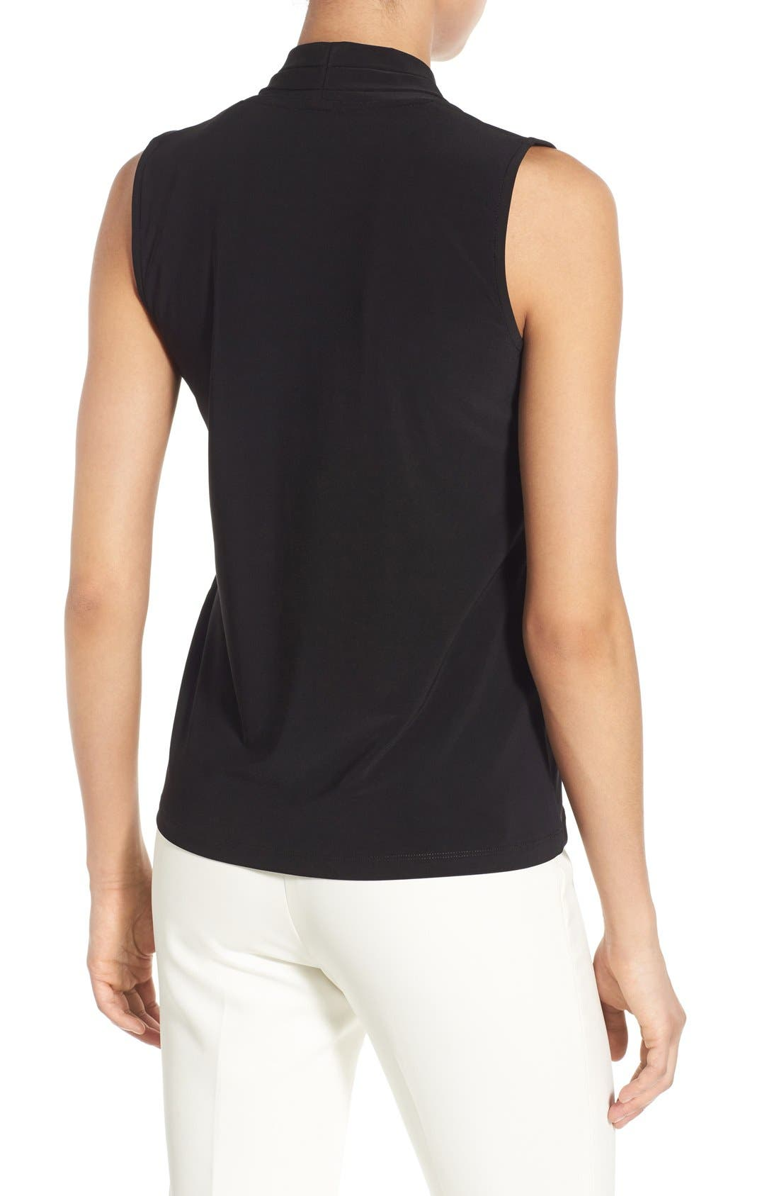 Alternate Image 2  - Anne Klein Triple Pleat V-Neck Jersey Top