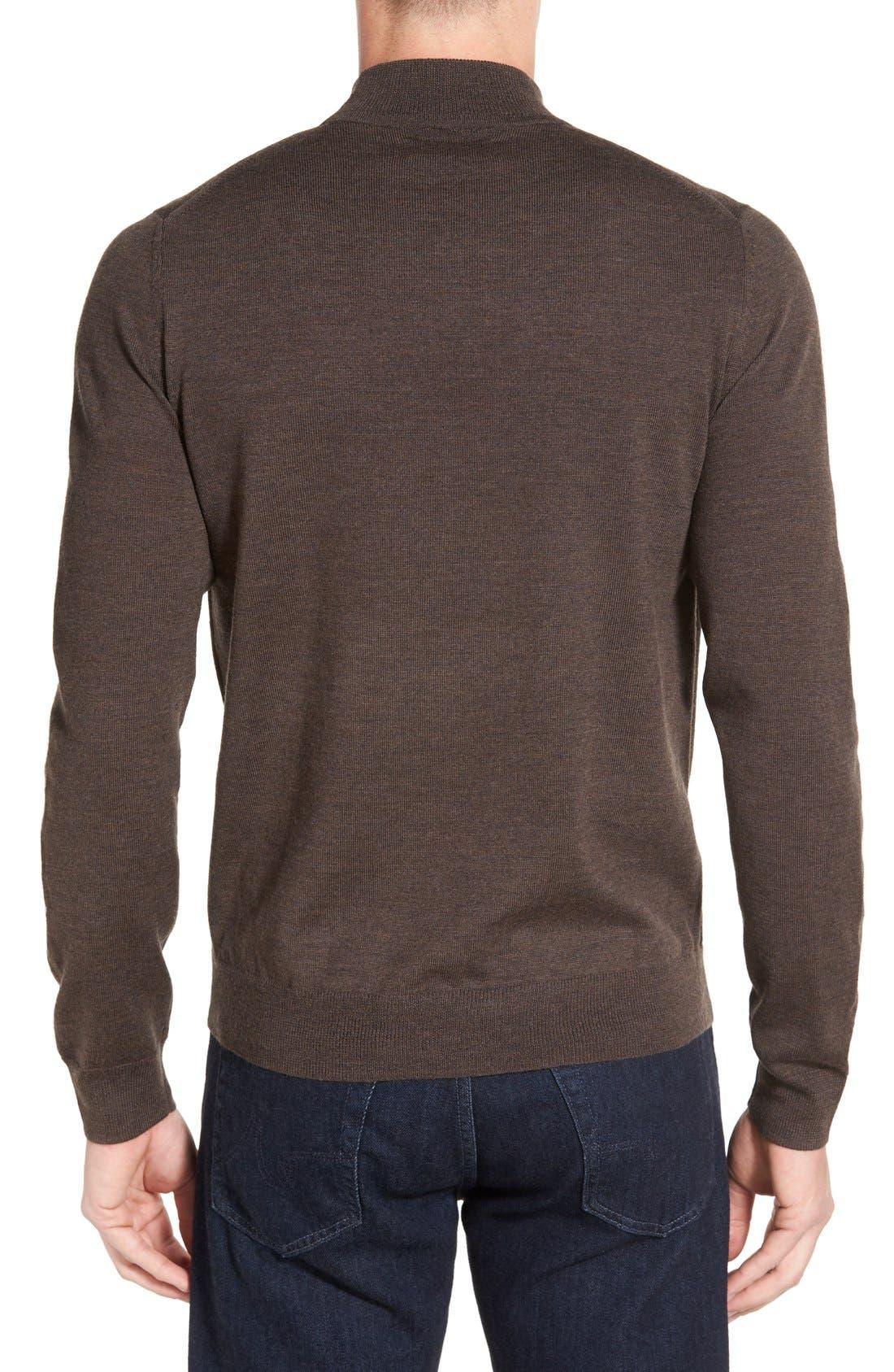 Alternate Image 2  - Nordstrom Mock Neck Merino Wool Sweater (Regular & Tall)