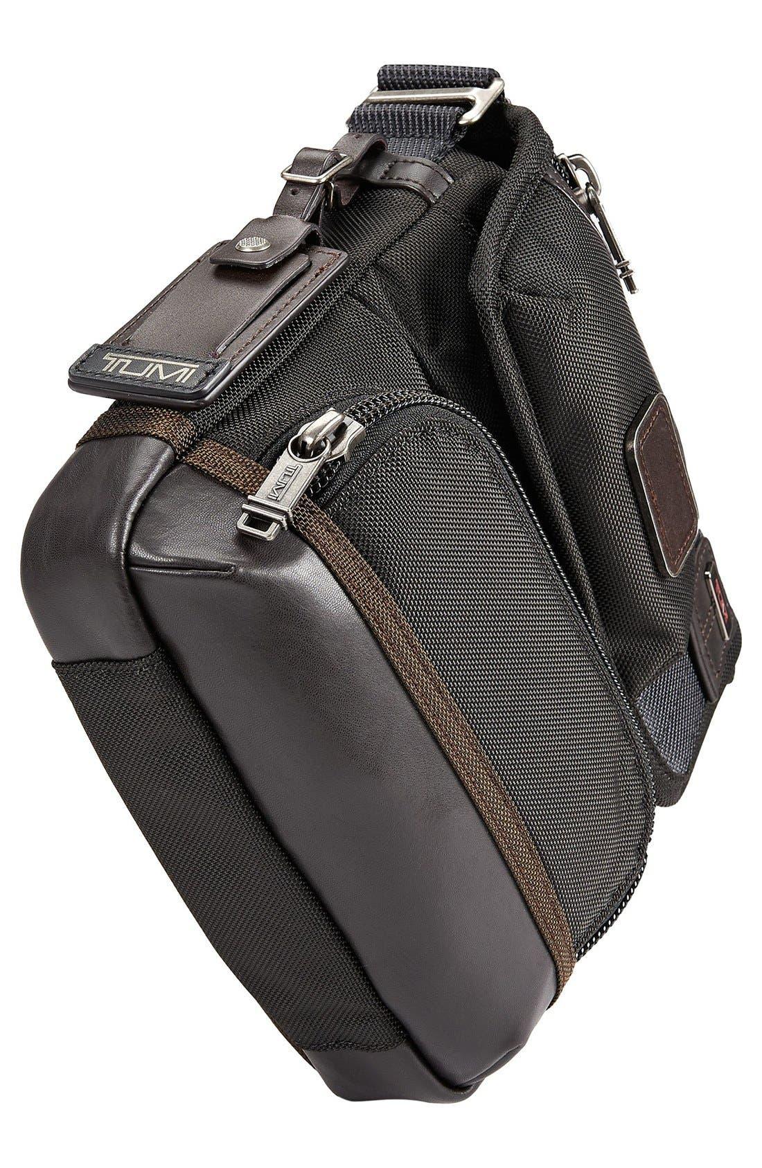 'Alpha Bravo - Barstow' Crossbody Bag,                             Alternate thumbnail 5, color,                             Hickory Black
