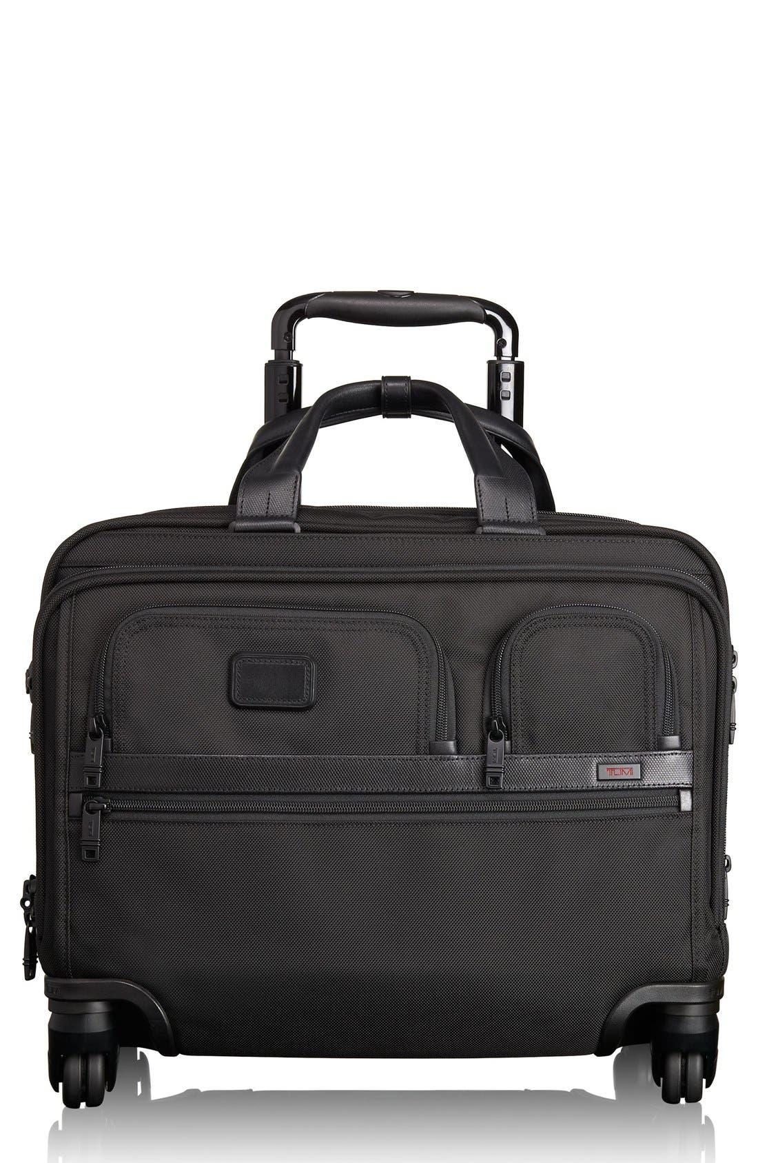 Alpha 2 Deluxe Wheeled Briefcase,                         Main,                         color, Black