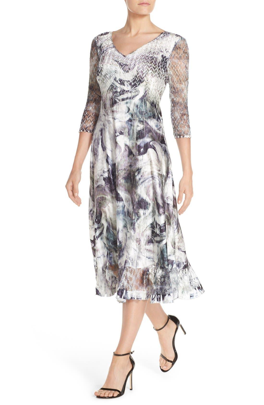 Alternate Image 4  - Komarov Mixed Media Midi Dress