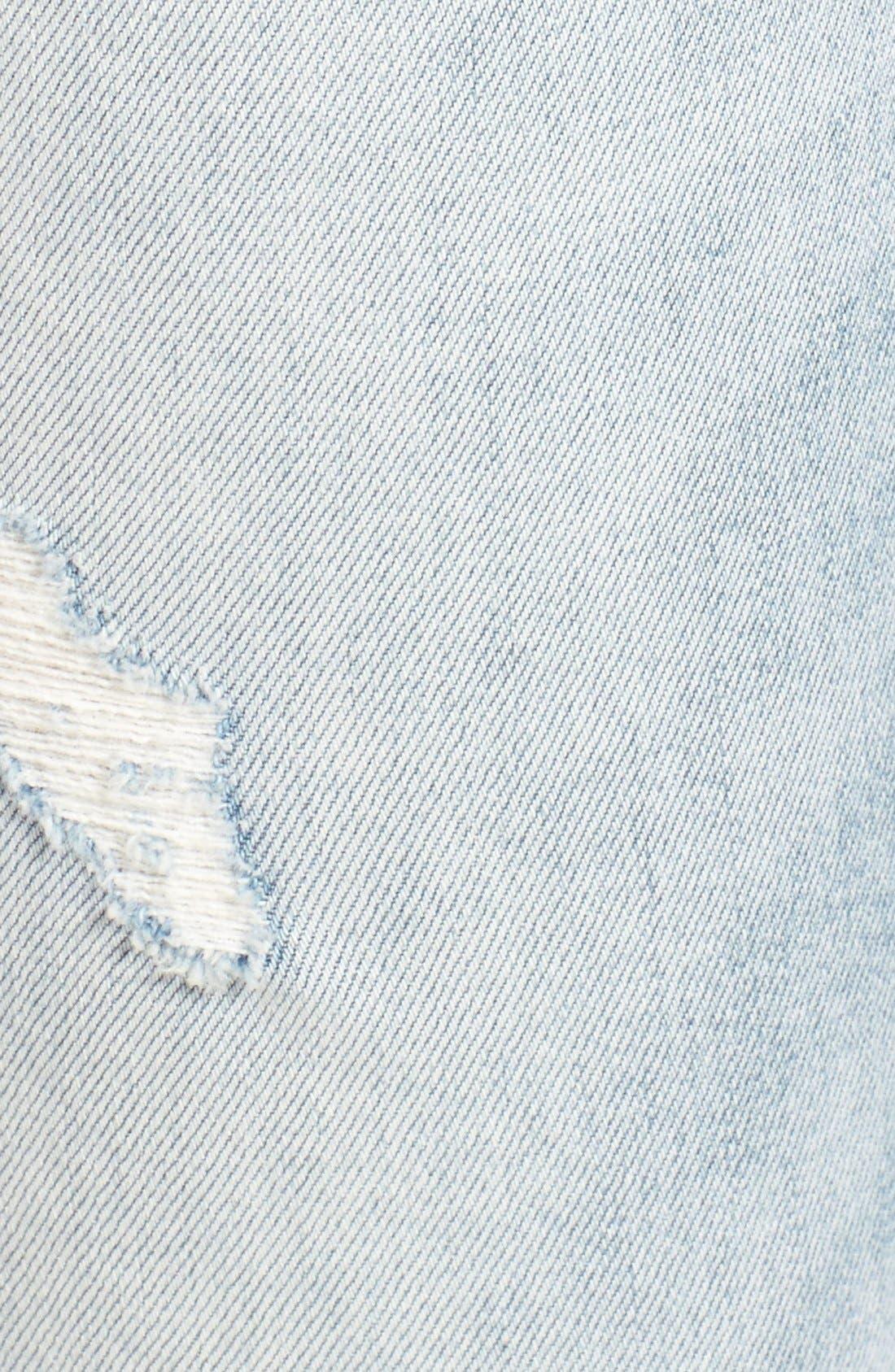 Alternate Image 6  - Treasure&Bond Ankle Boyfriend Skinny Jeans (Gravel Light Destroy)