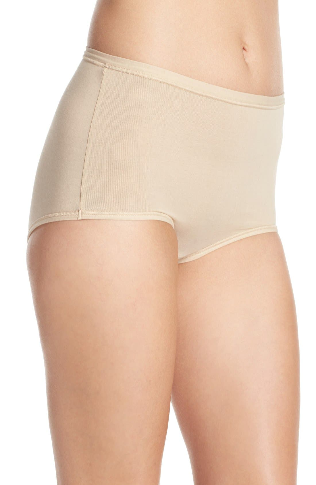 B Fitting Briefs,                             Alternate thumbnail 3, color,                             Nude