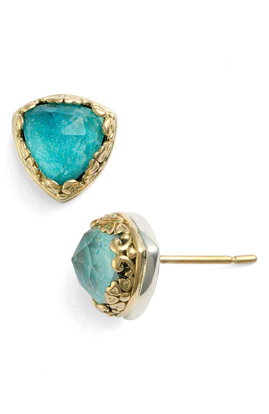 'Iliada' Doublet Stud Earrings,                             Main thumbnail 1, color,                             Blue/ Green