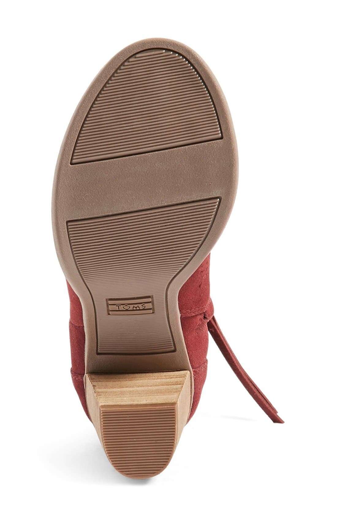 'Majorca' Peep Toe Bootie,                             Alternate thumbnail 4, color,                             Burgundy Suede