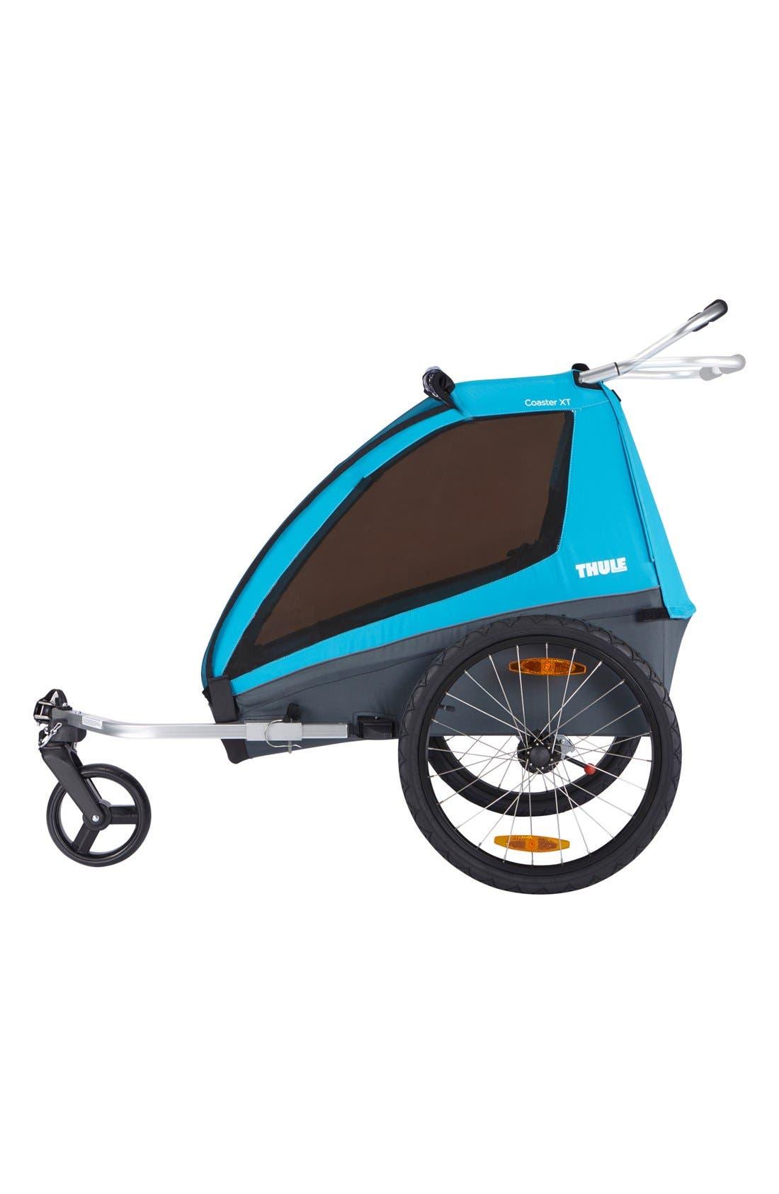 Coaster XT Double Seat Bike Trailer,                             Alternate thumbnail 2, color,                             Blue