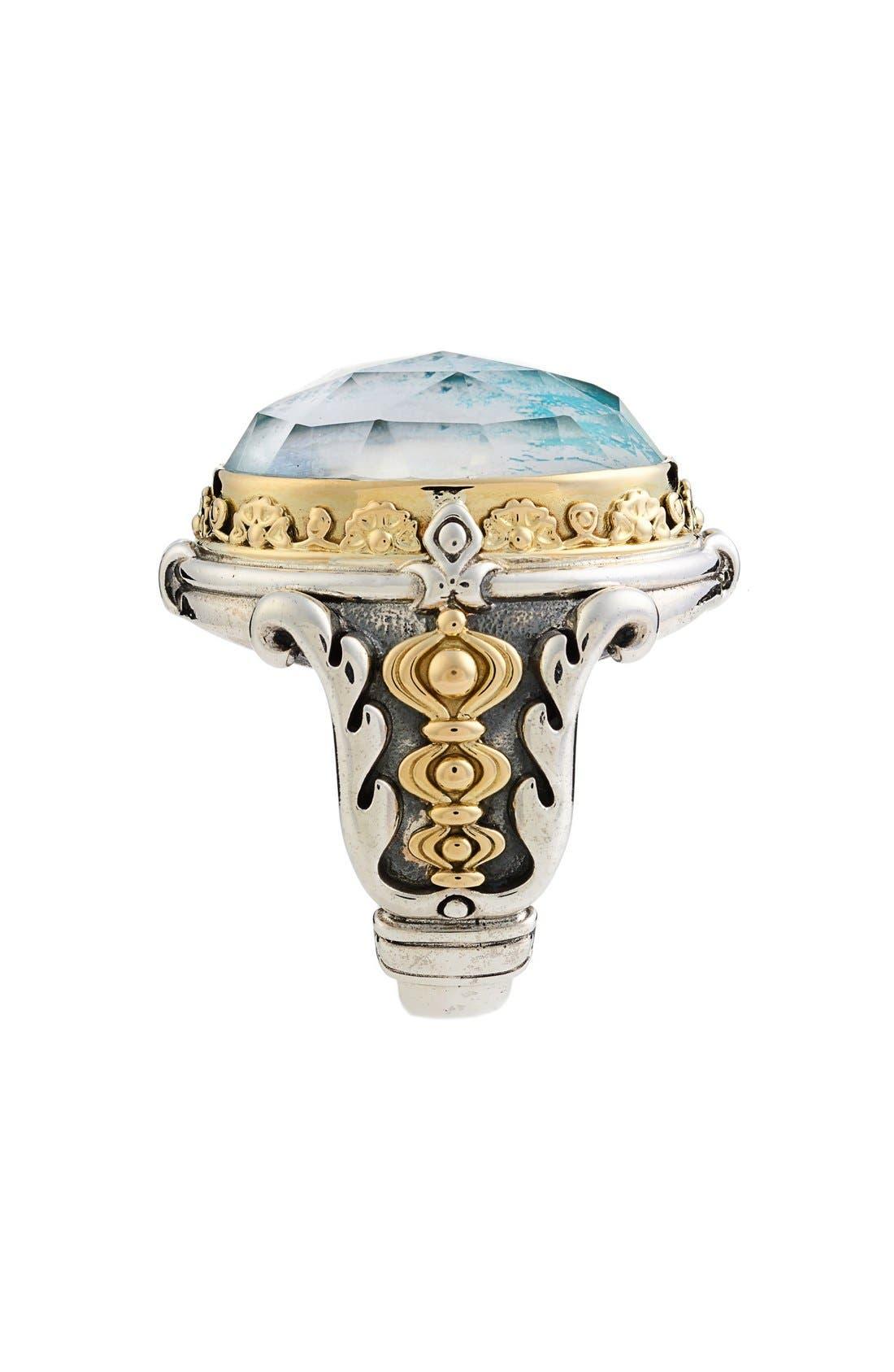 Alternate Image 2  - Konstantino 'Iliada' Large Oval Semiprecious Stone Ring