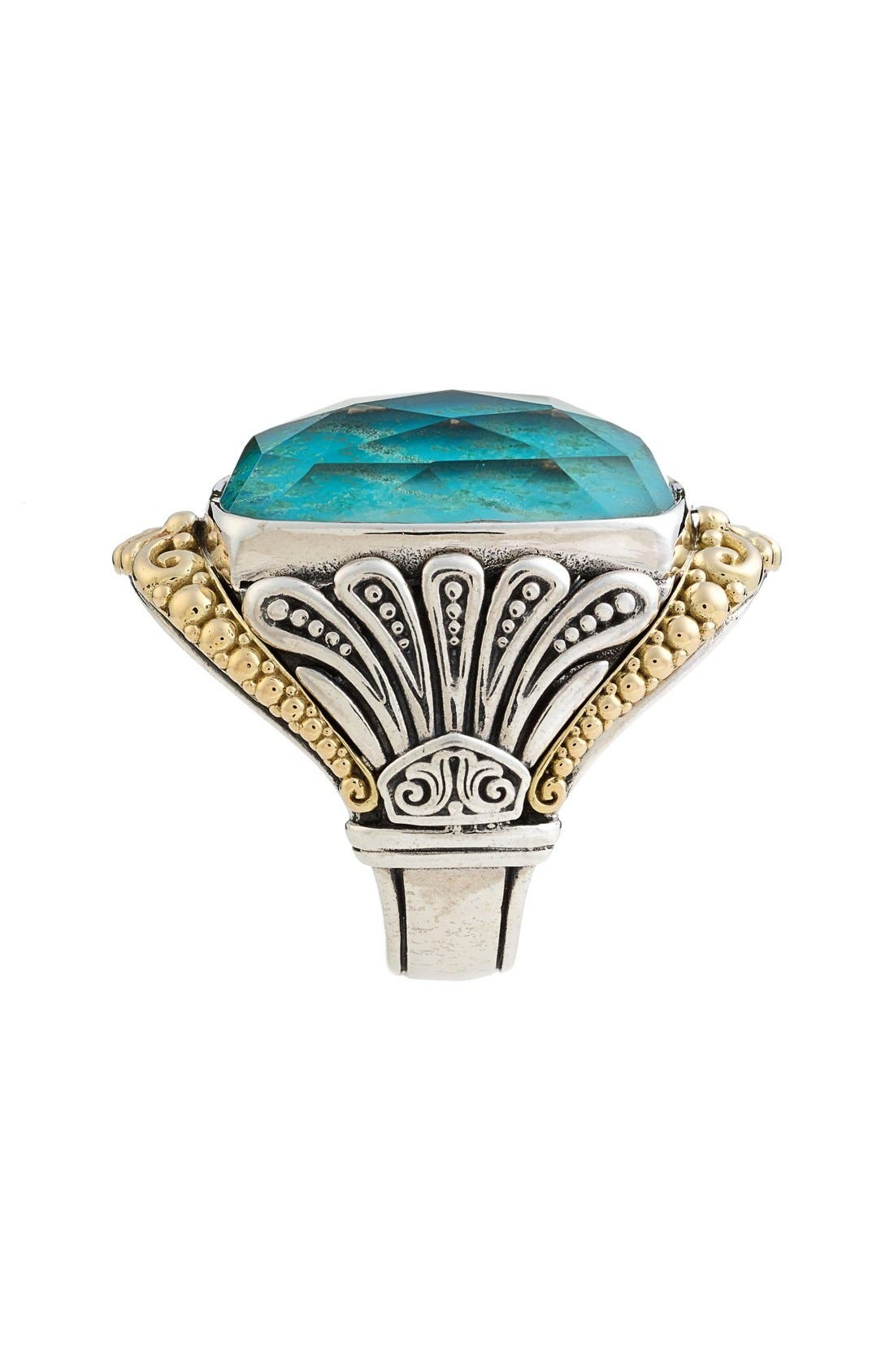 'Iliada' Large Doublet Ring,                             Alternate thumbnail 2, color,                             Blue/ Green