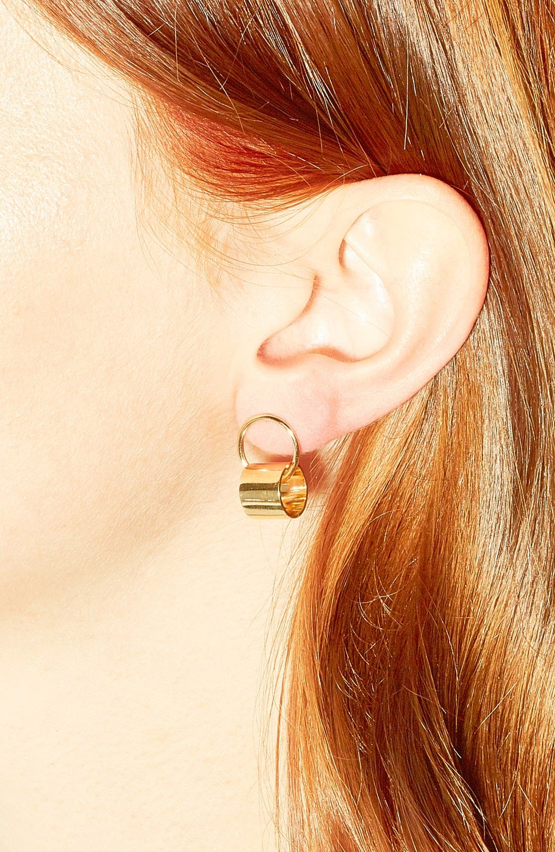 'Young' Drop Earrings,                             Alternate thumbnail 2, color,                             Yellow Gold