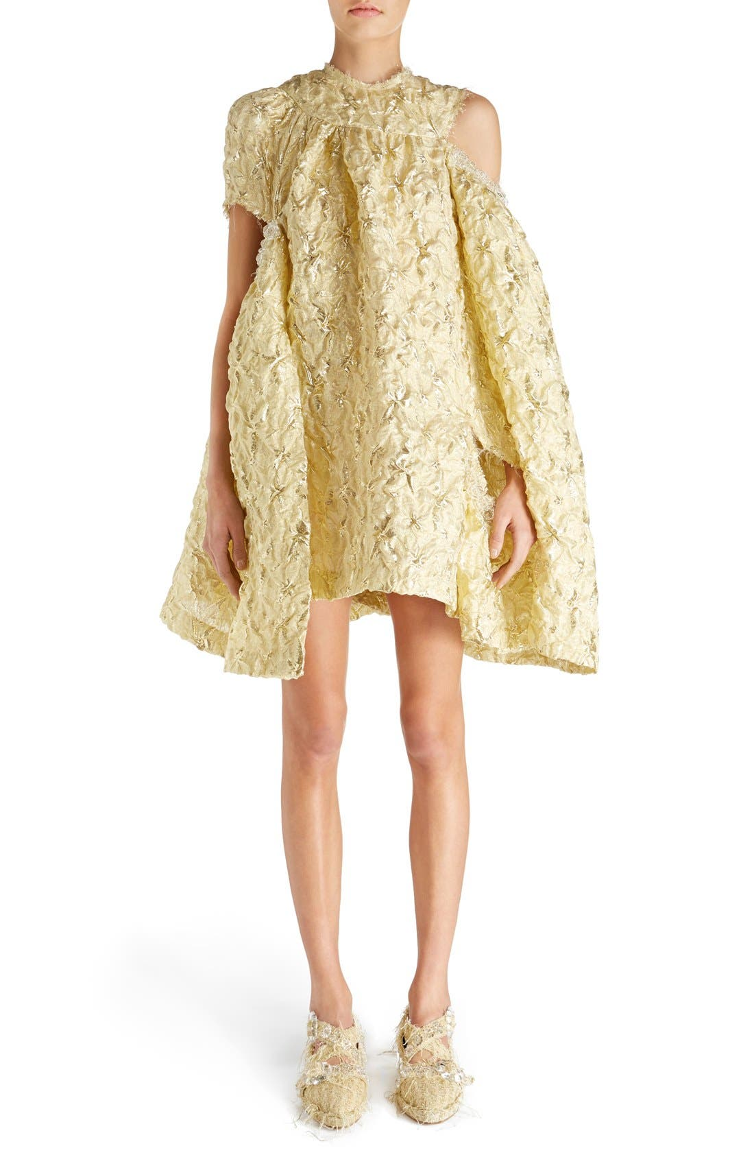 Main Image - Simone Rocha 'Lava' Embellished Asymmetrical Trapeze Dress