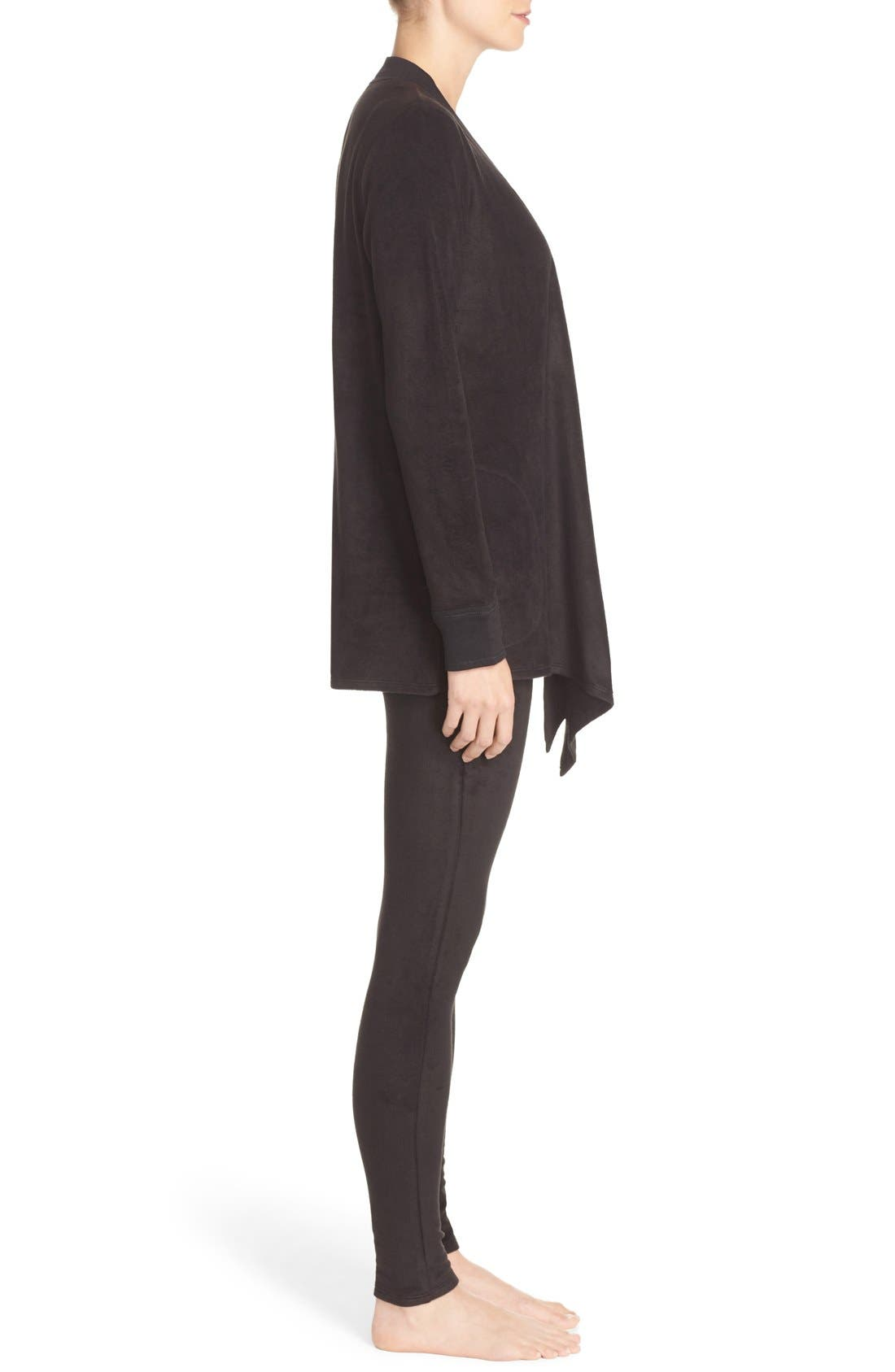 Alternate Image 3  - DKNY Open Cardigan & Lounge Leggings
