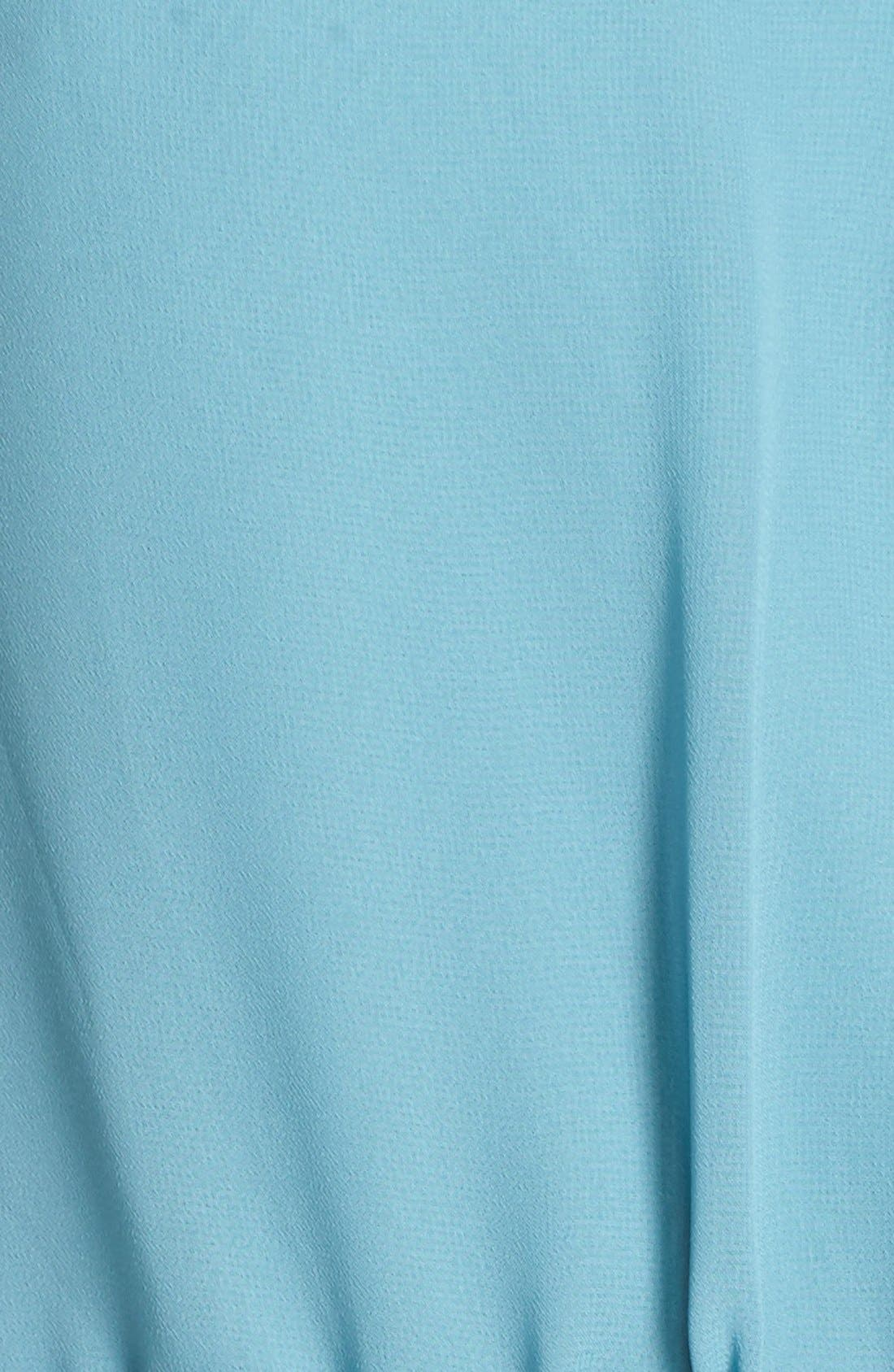 'Delaney' Belted A-Line Chiffon Halter Dress,                             Alternate thumbnail 5, color,                             Teal