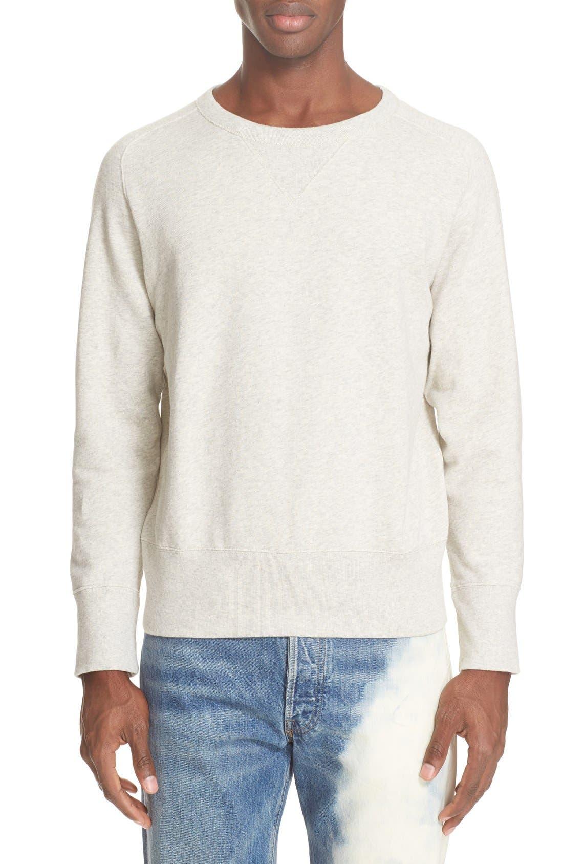 Bay Meadows Sweatshirt,                             Main thumbnail 1, color,                             White