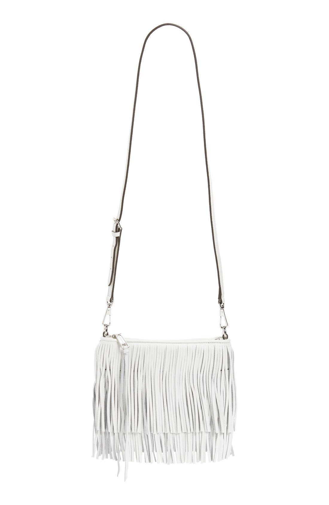 Alternate Image 1 Selected - Rebecca Minkoff 'Finn' Convertible Leather Clutch