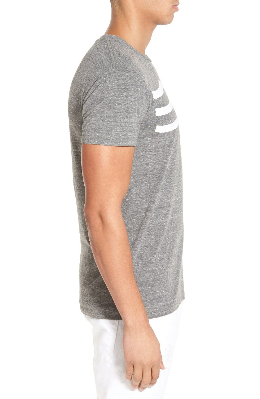 'Waves' Graphic T-Shirt,                             Alternate thumbnail 3, color,                             Heather Grey