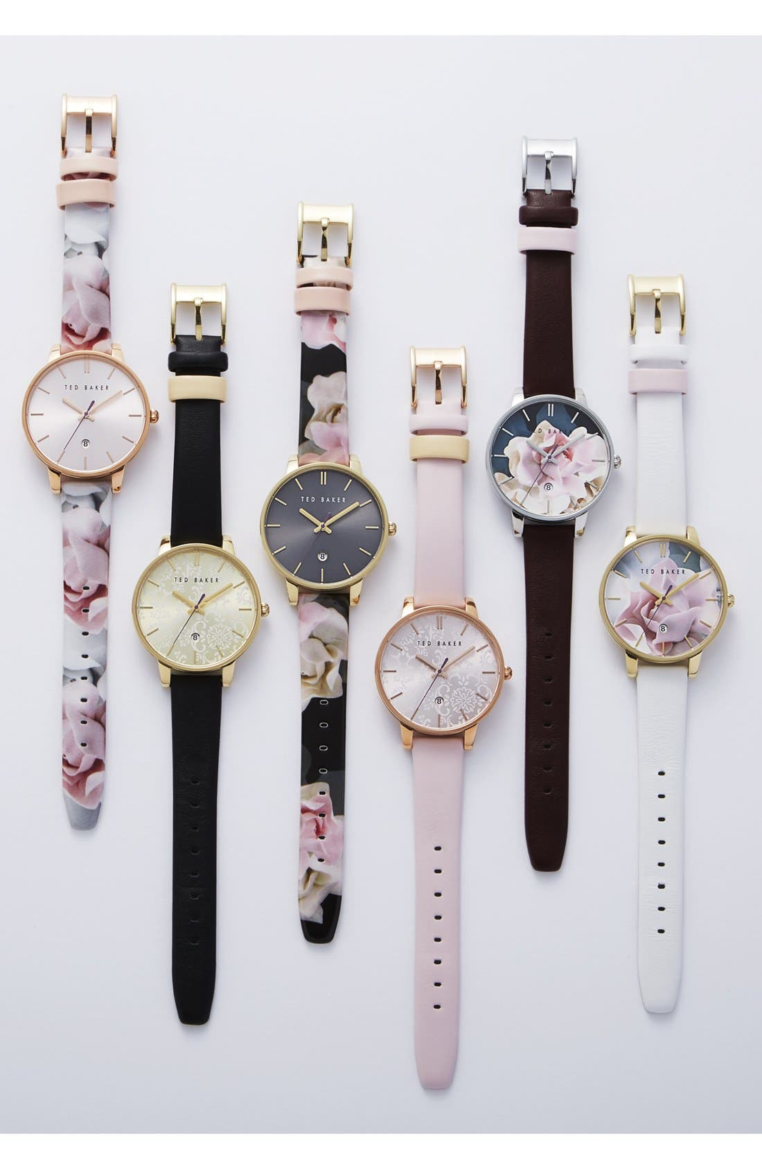 Alternate Image 4  - Ted Baker London Leather Strap Watch, 40mm